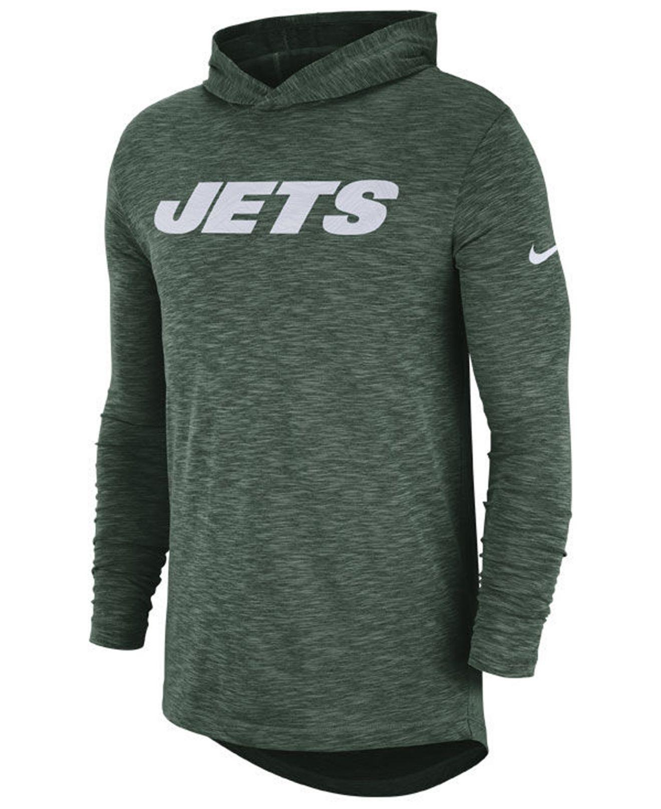 b955749e9 Lyst - Nike New York Jets Dri-fit Cotton Slub On-field Hooded T ...