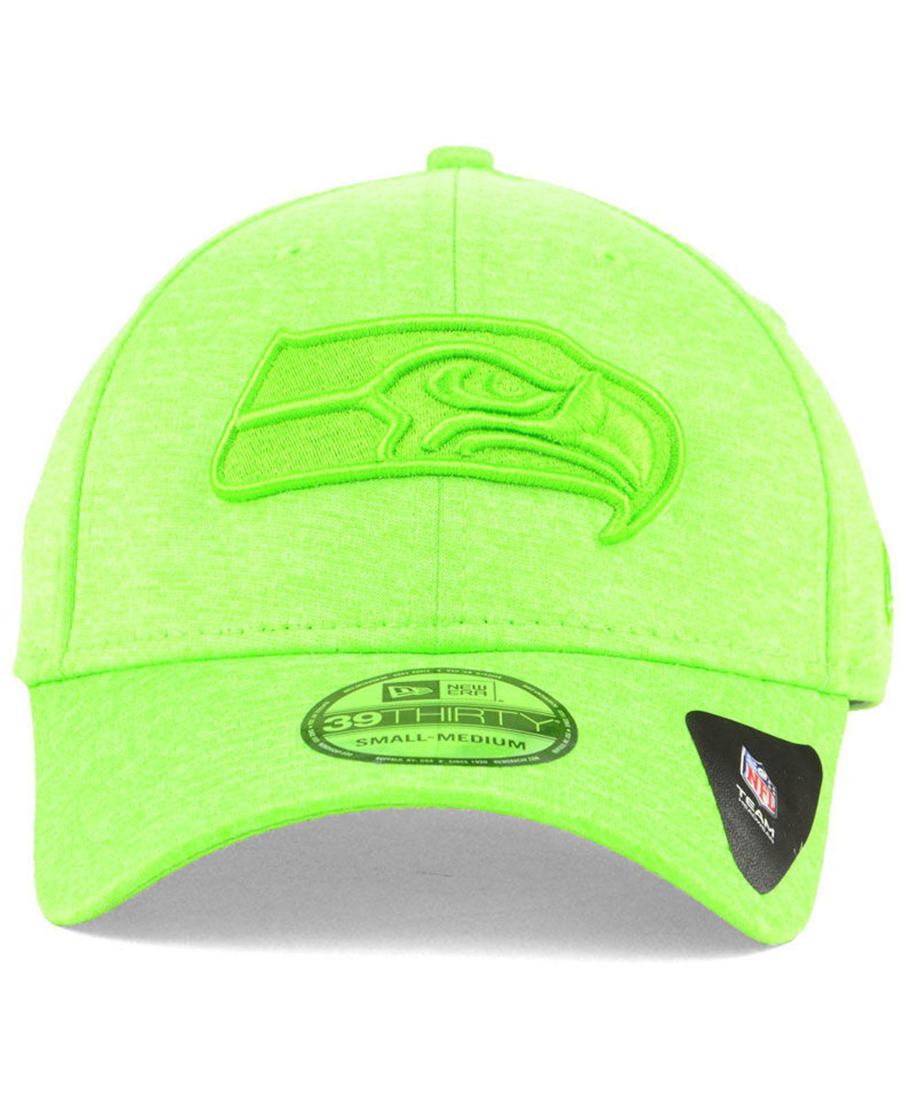 save off dfdf1 eb14e Lyst - KTZ Seattle Seahawks Tonal Heat 39thirty Cap in Green for Men