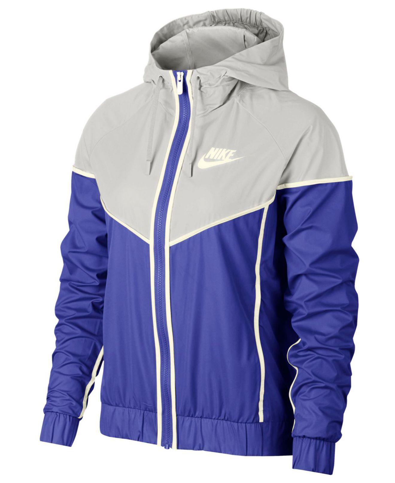 843aa22912 Lyst - Nike Sportswear Windrunner Hooded Jacket in Blue