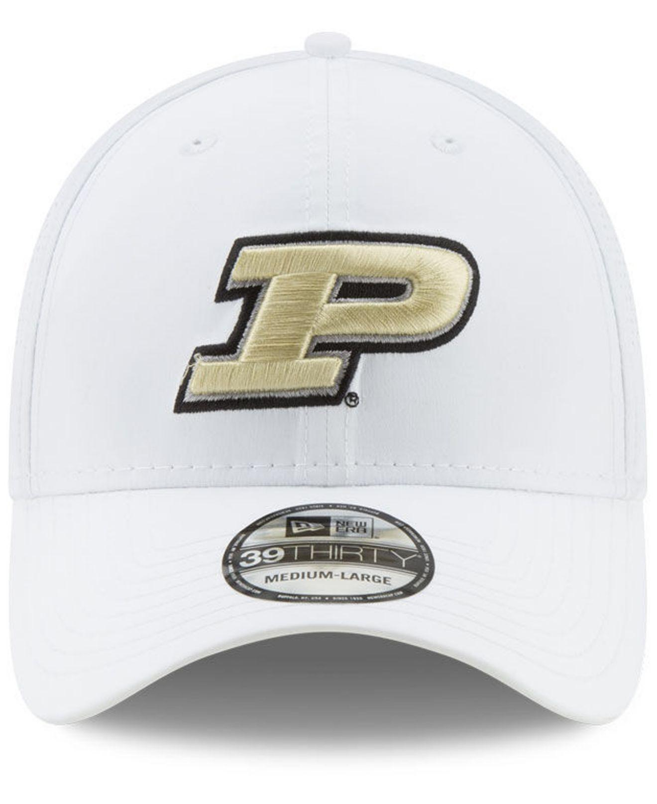 new concept a41e8 6b102 Lyst - KTZ Purdue Boilermakers Perf Play 39thirty Cap in White for Men