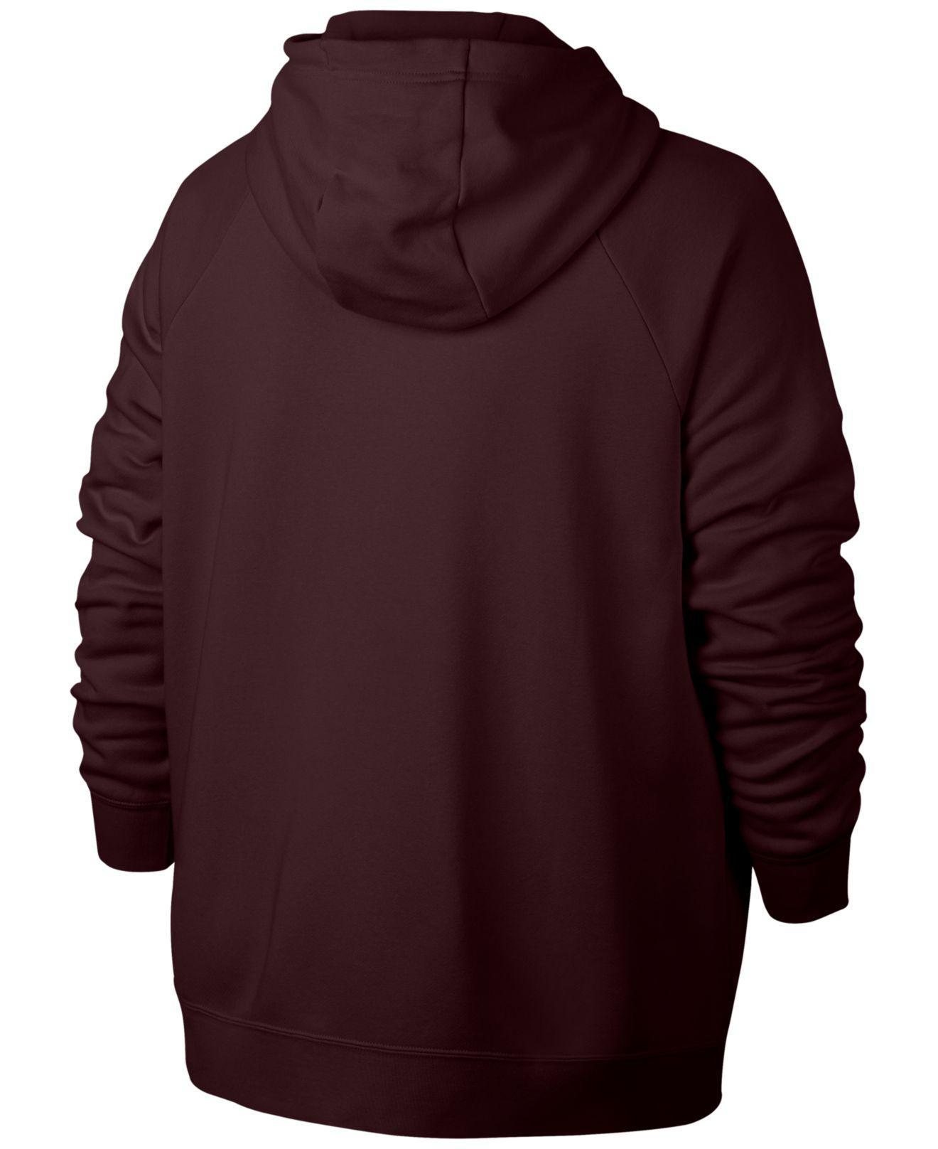 f4bc3b87ce218 Lyst - Nike Plus Size Sportswear Zip Hoodie in Purple