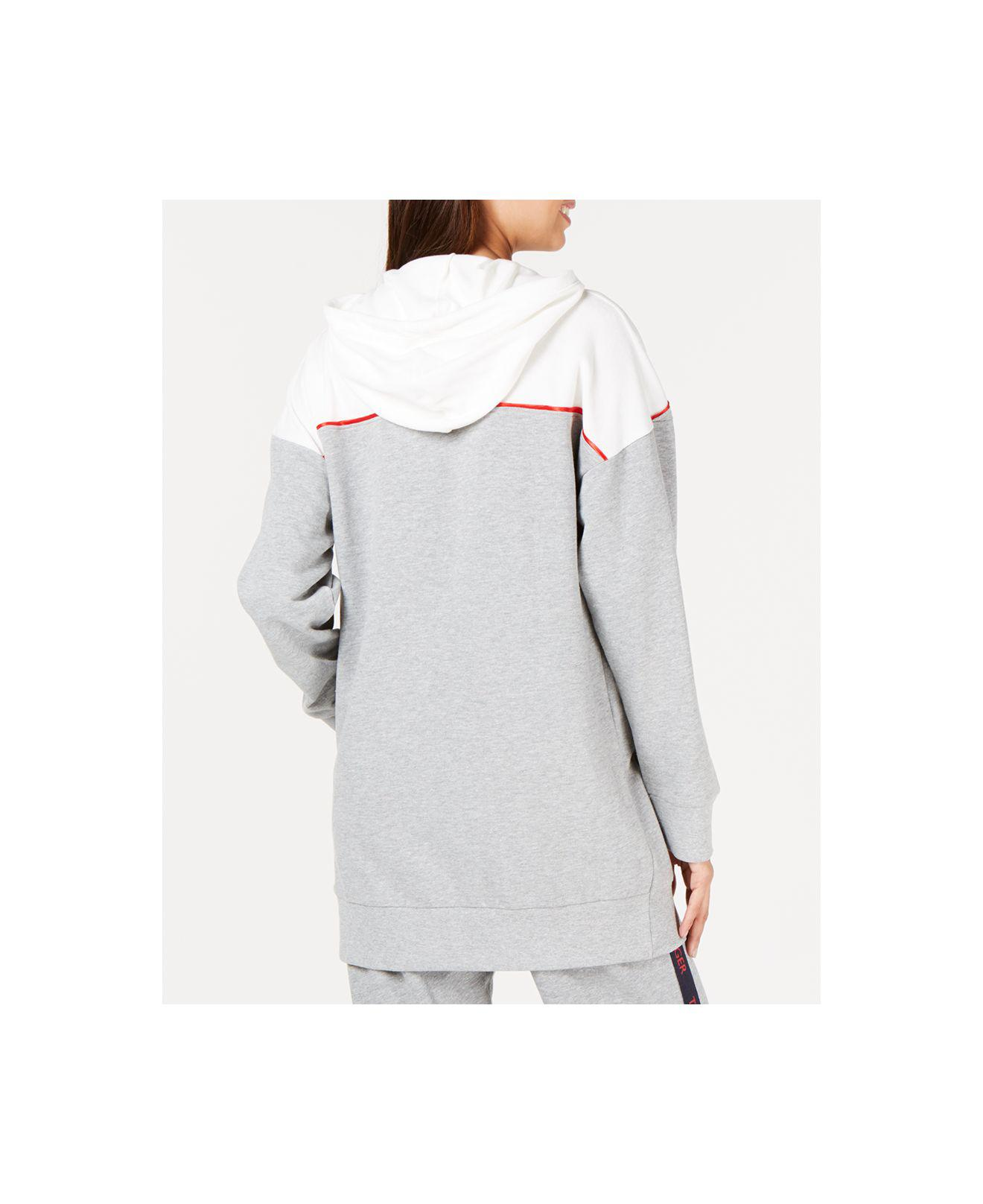 5defe2711d Lyst - Tommy Hilfiger Oversized Logo Velour Lounge Hoodie in Gray - Save  52.0%