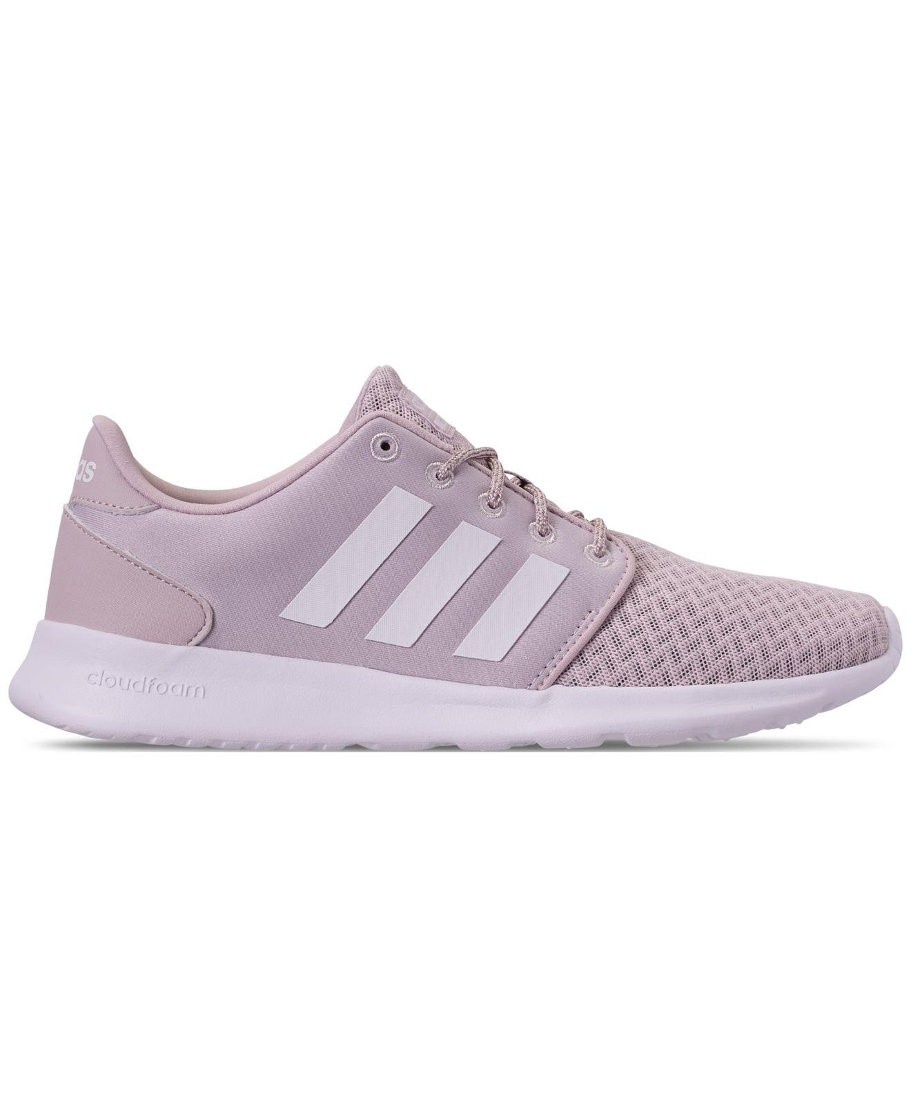 a6bd34c3d8fd73 Lyst - adidas Cloudfoam Qt Racer Casual Sneakers From Finish Line in Purple