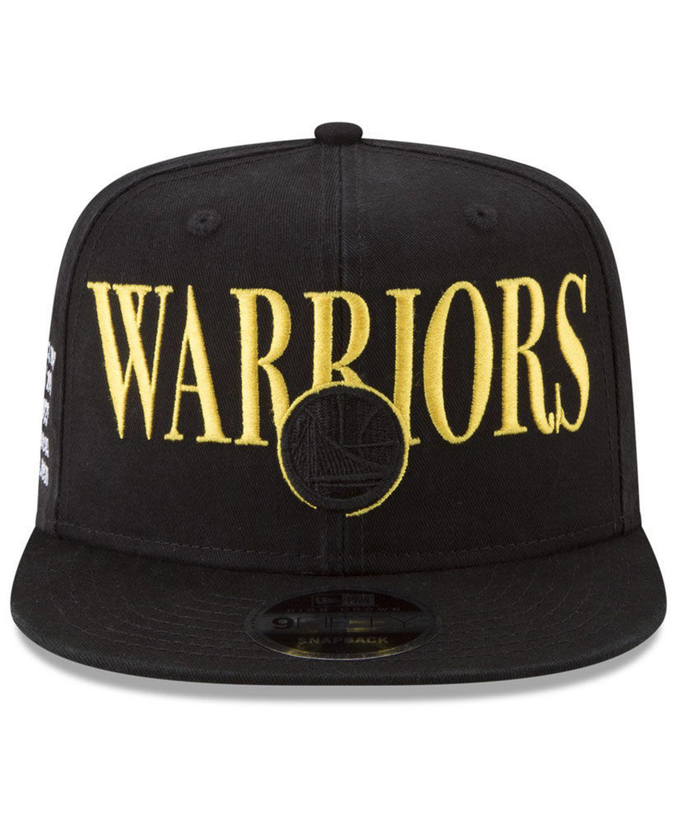 wholesale dealer 9ec27 797e2 ... good lyst ktz golden state warriors 90s throwback roadie 9fifty  snapback cap in black for men
