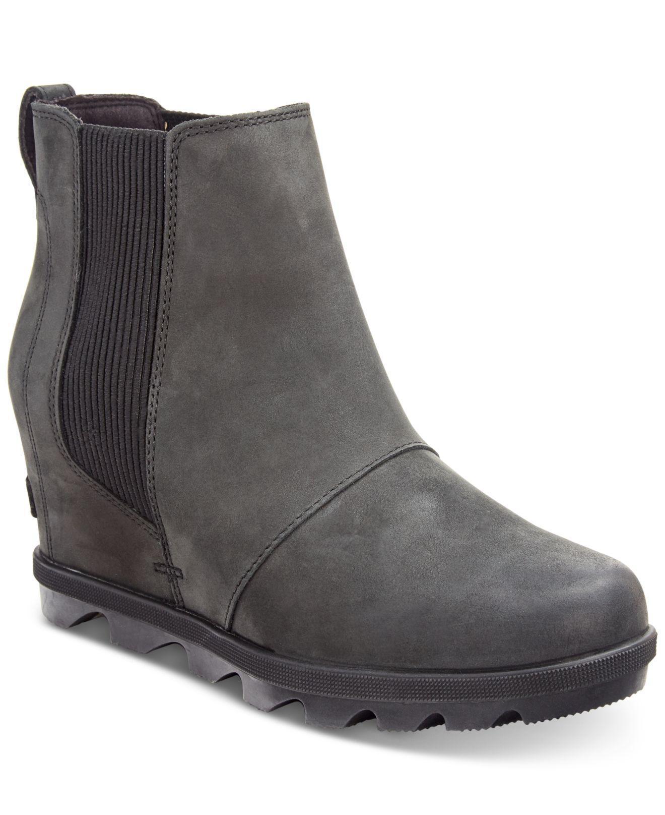 277da9d7028 Lyst - Sorel Joan Of Arctic Wedge Ii Waterproof Chelsea Booties in Black