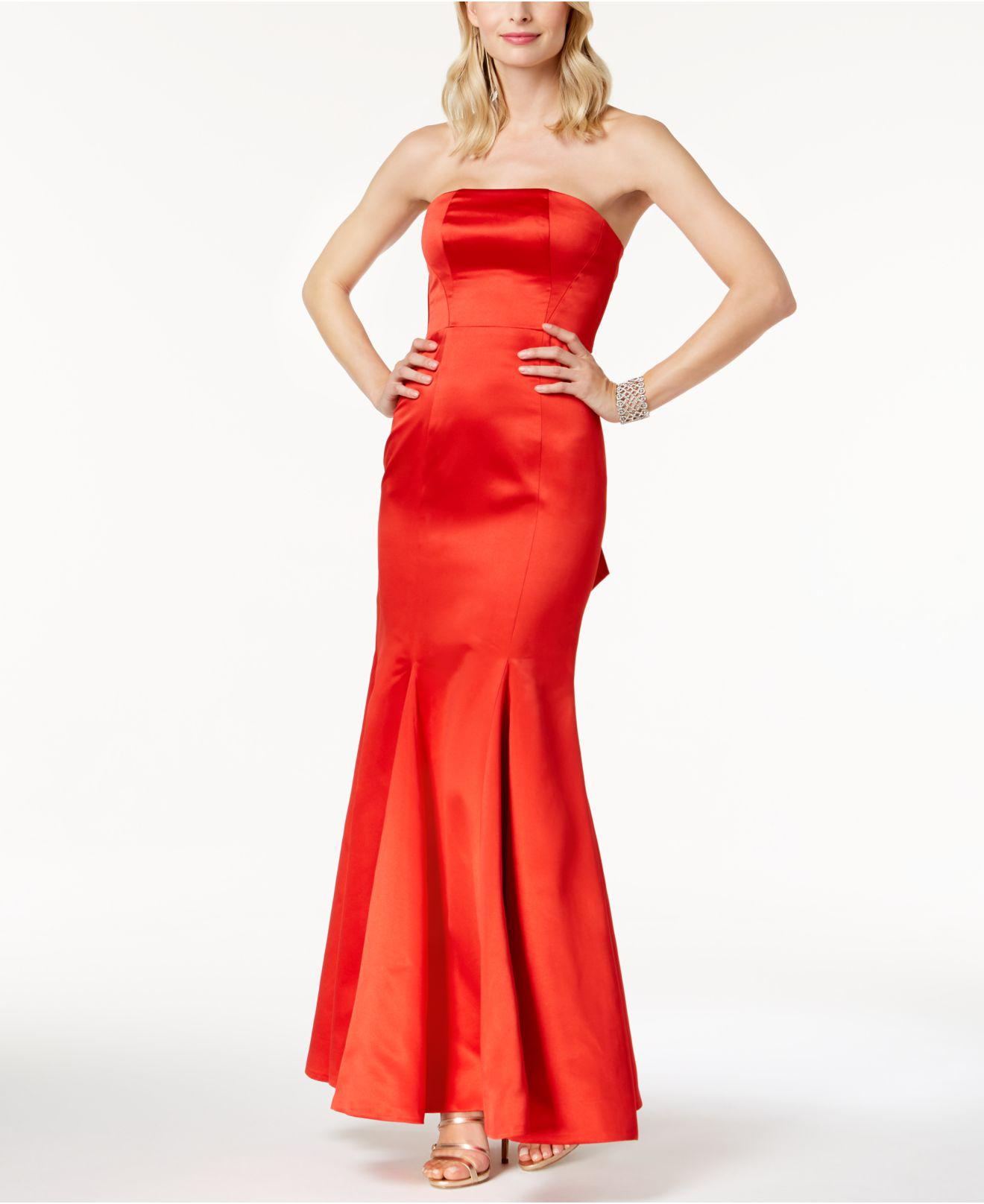 Fame & partners The Janvier Strapless Mermaid Gown in Red | Lyst