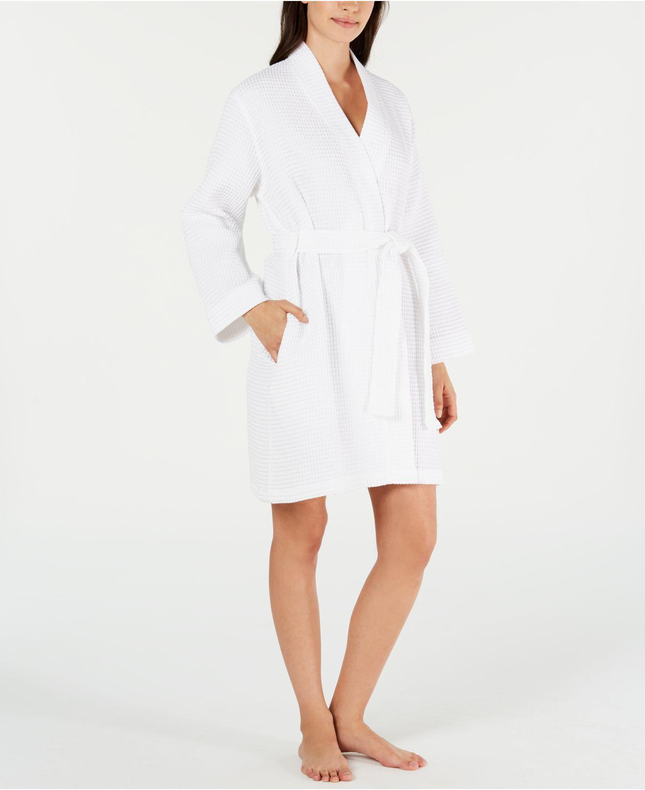 f33dcc4730 Charter Club. Women s White Woven Cotton Waffle Robe ...