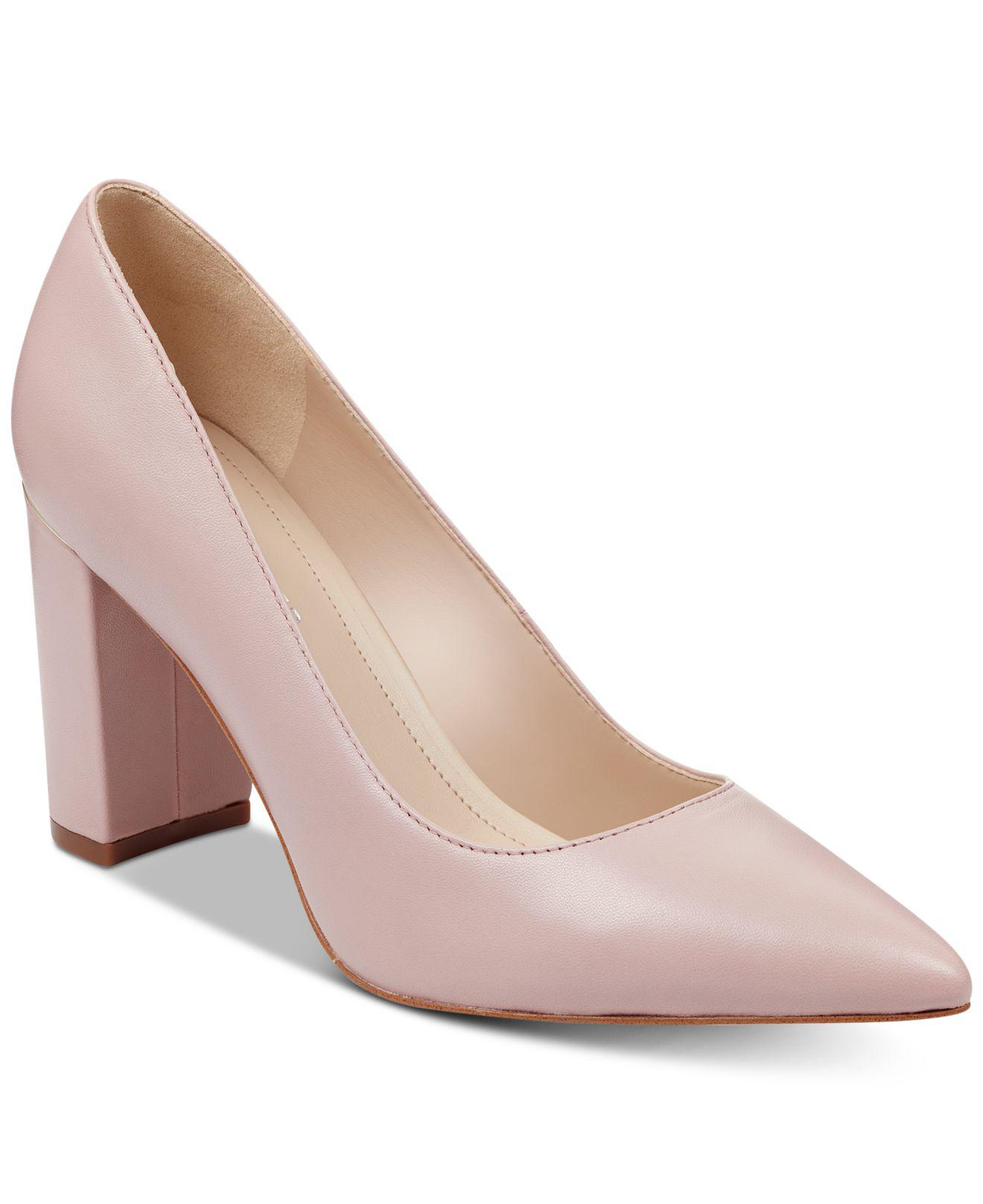 c3a3e65f472 Marc Fisher - Pink Viviene Block-heel Pumps - Lyst. View fullscreen