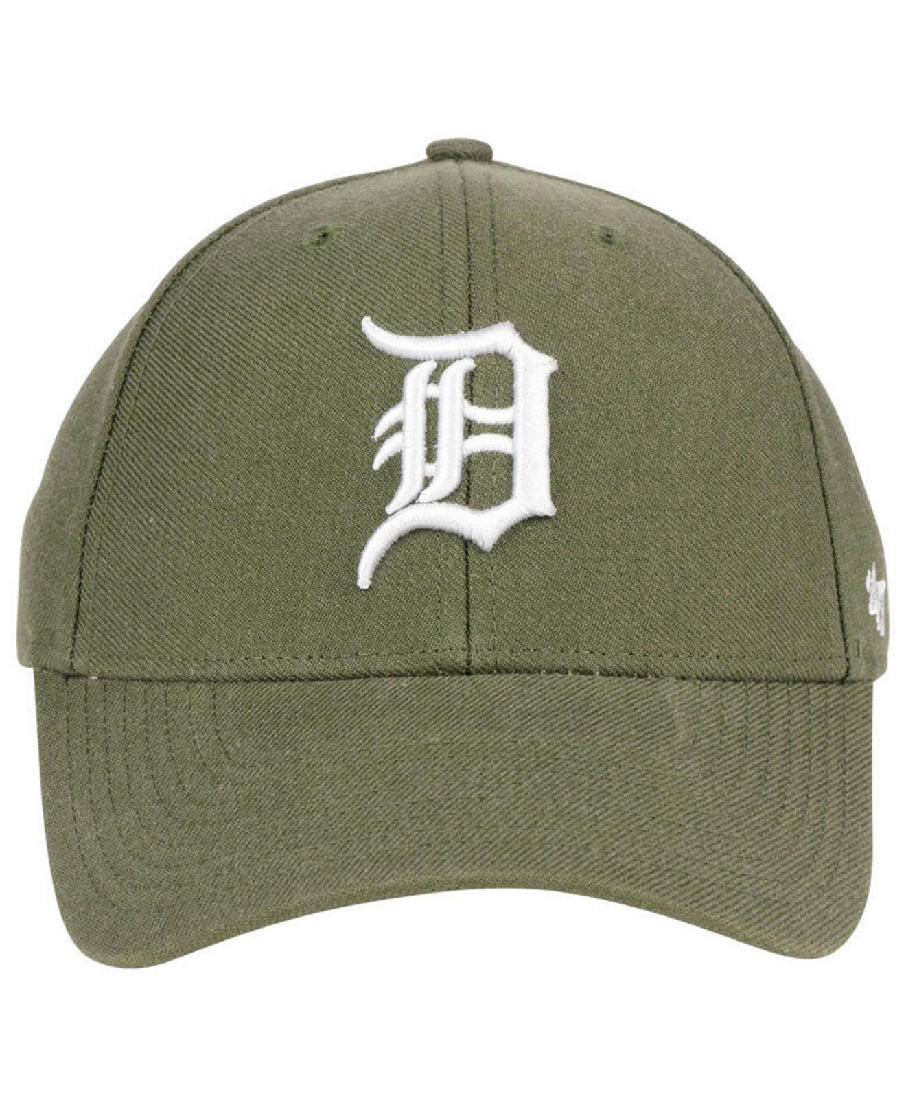 competitive price 6757d 07b9d germany lyst 47 brand detroit tigers olive mvp cap in green for men df7d4  6a1cc