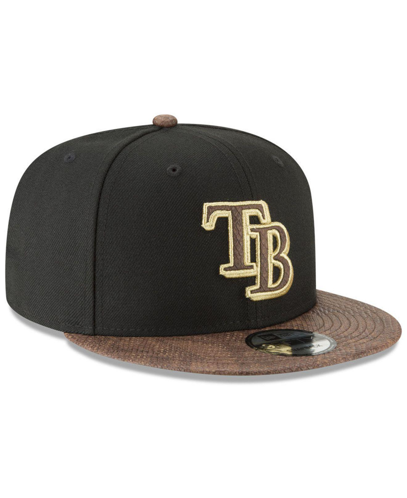 the latest e43f1 2deb1 ... Tampa Bay Rays Gold Snake 9fifty Snapback Cap for Men - Lyst. View  fullscreen