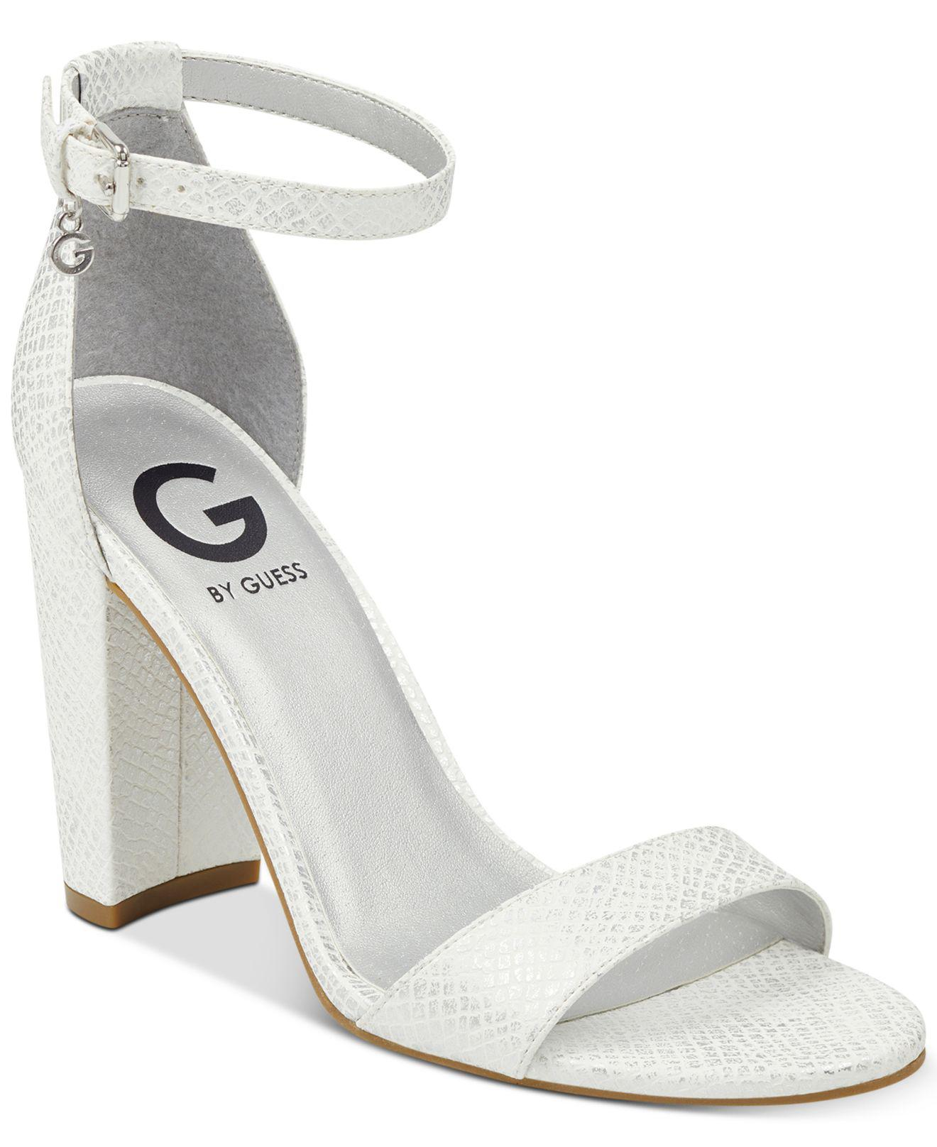 8740cfaf382 Lyst - G by Guess Shantel Two-piece Sandals in White