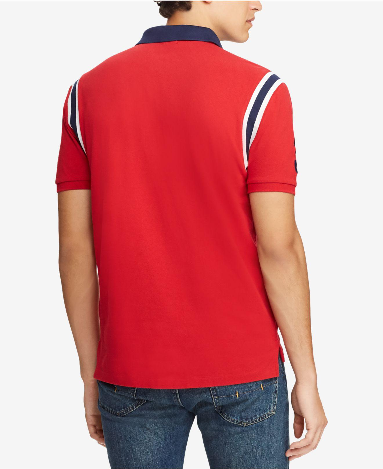 e374e5db Lyst - Polo Ralph Lauren Big Pony Vintage Crest Short-sleeve Polo Shirt in  Red for Men