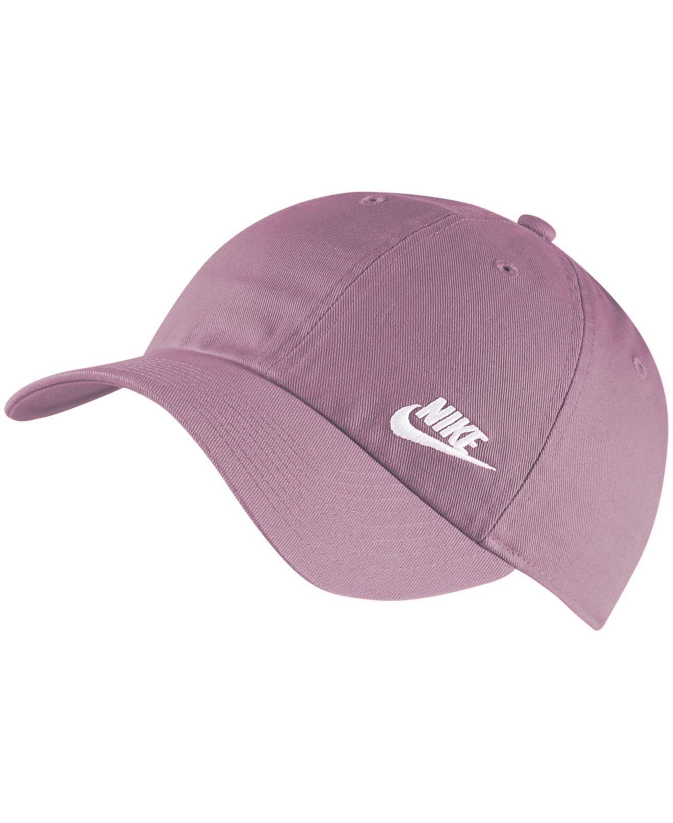 sports shoes 55ff1 e26c5 Nike. Women s Purple Sportswear Cotton Heritage 86 Futura Cap
