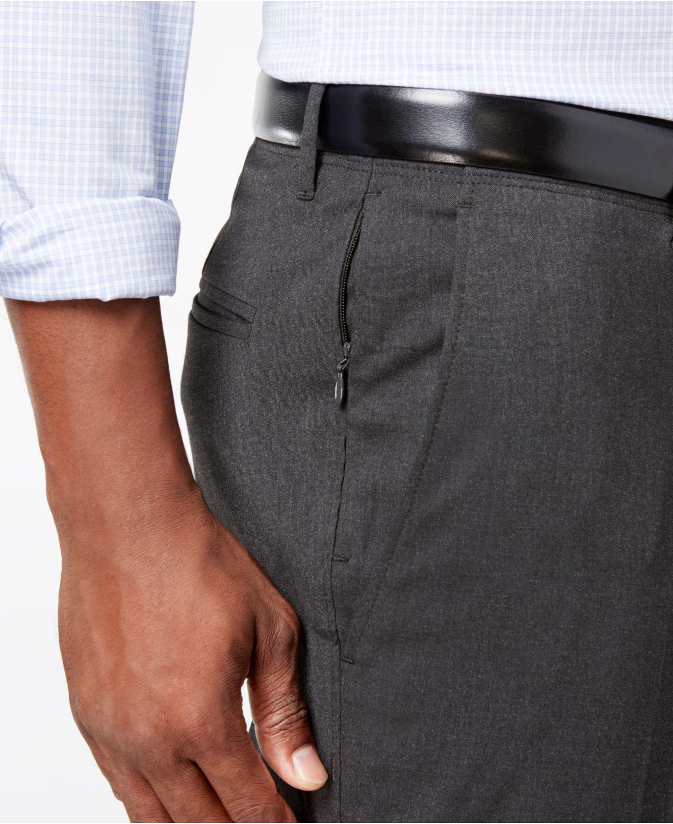 889bb4b702b0 Kenneth Cole Reaction - Gray Men s Stretch Athleisure Slim-fit Dress Pants  for Men -. View fullscreen