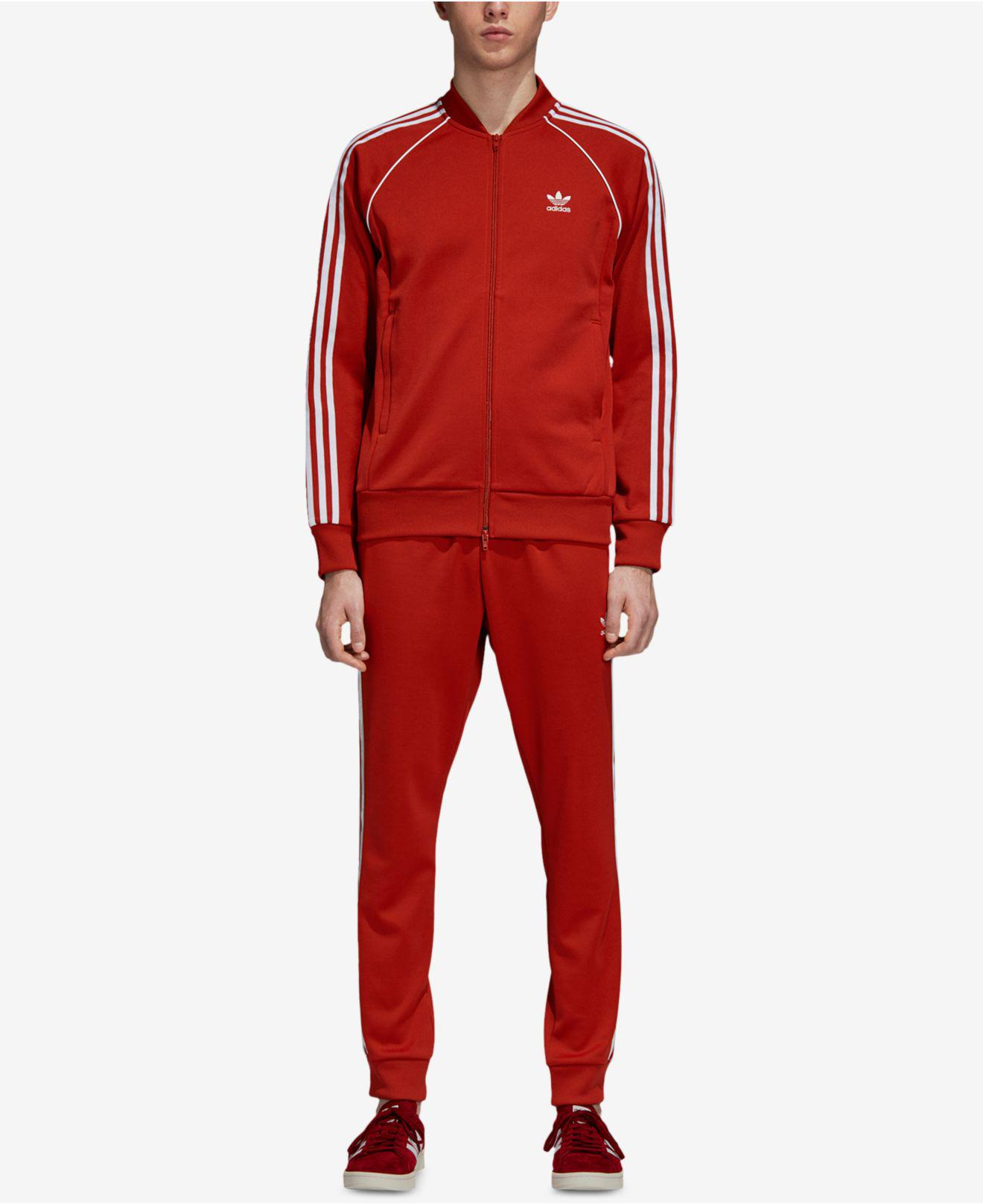 official photos 82b61 9d70d Lyst - adidas Originals Adicolor Superstar Track Jacket in Red for Men