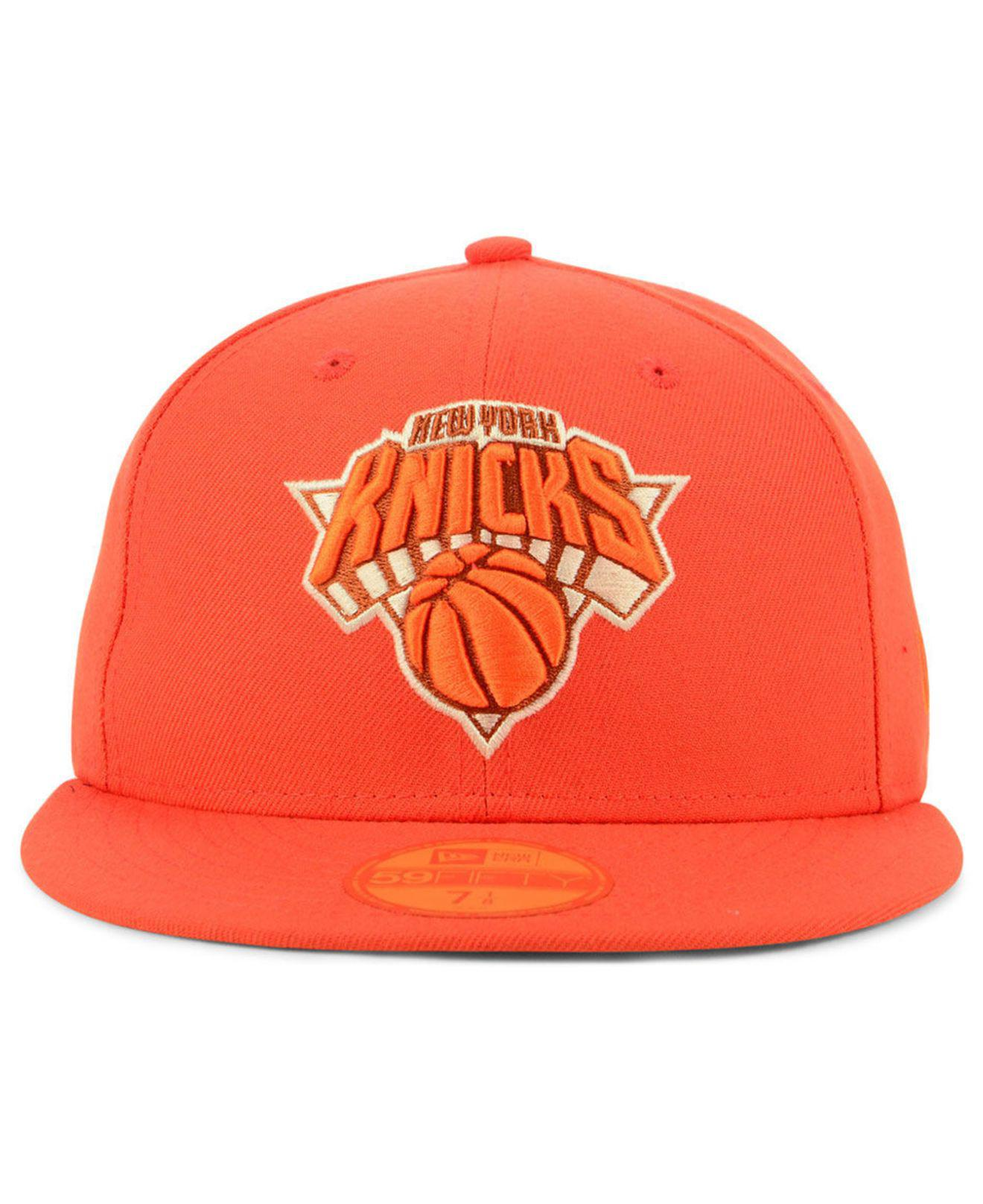 dc535b53dd6 Lyst - KTZ New York Knicks Color Prism Pack 59fifty Fitted Cap in Orange  for Men