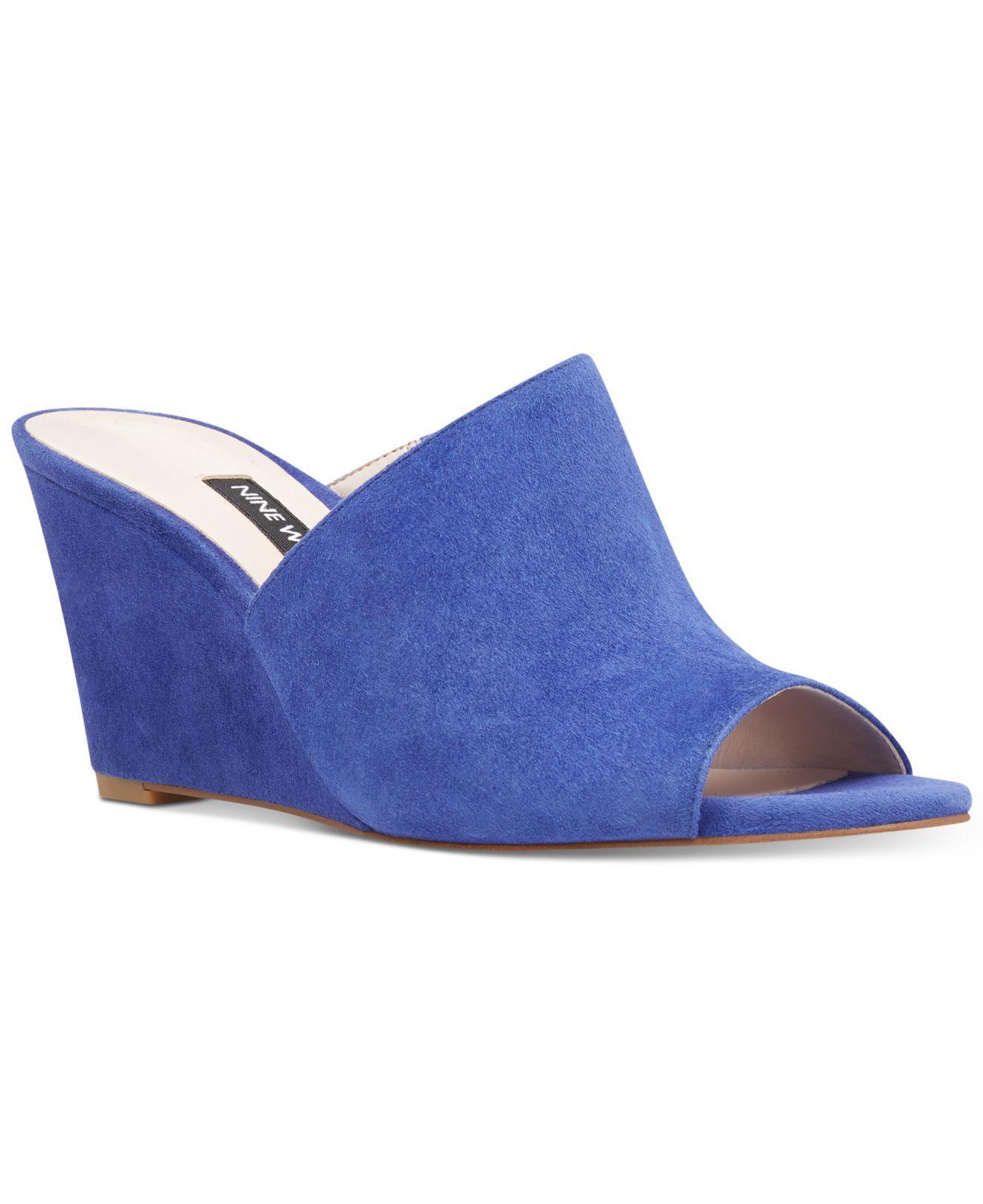 Nine West Janissah Slip-On Wedge Sandals Women's Shoes N2bQBMsy