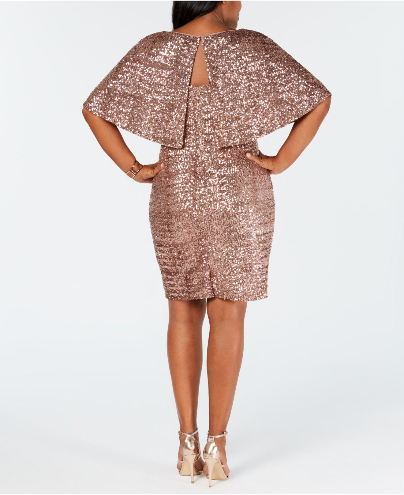 88a80fd7136 Alex Evenings Plus Size Sequin Capelet Dress in Pink - Save 5% - Lyst