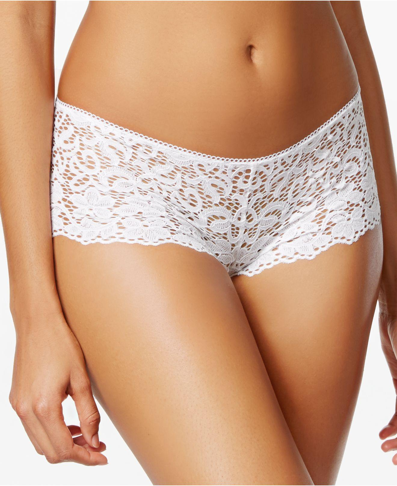 41395fed45c5d Lyst - DKNY Classic Lace Unlined Demi Bra Dk4008 in White - Save 55%
