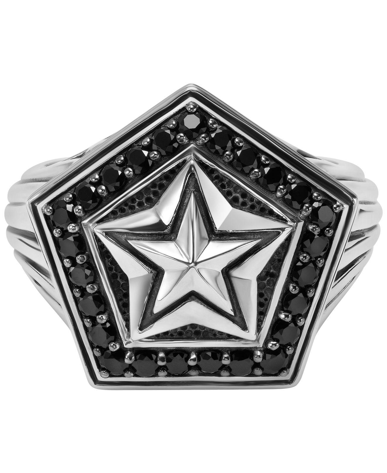 ae178faa2 Scott Kay - Metallic Men's Black Sapphire Star Ring (1-1/4 Ct. View  fullscreen