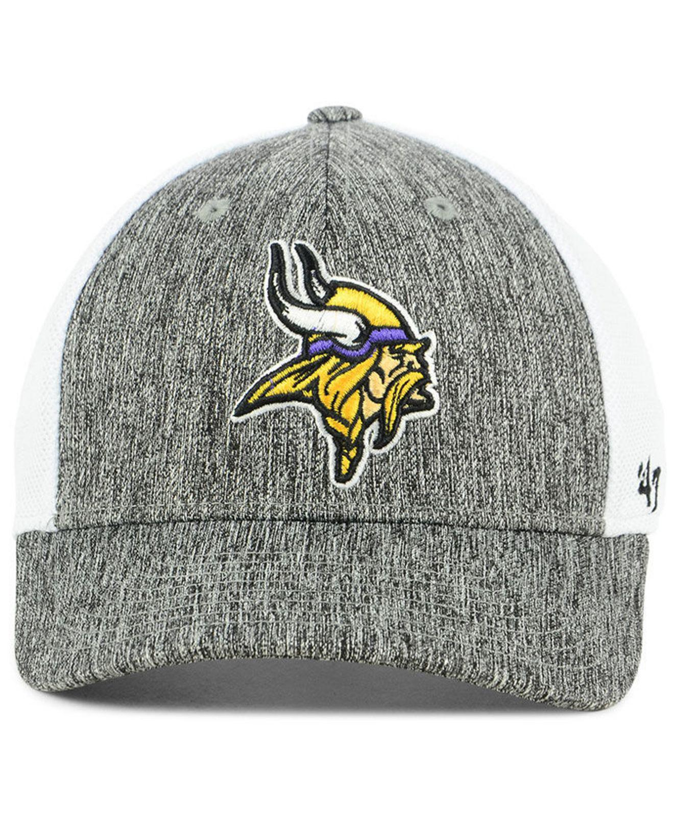 eec5c08717b Lyst - 47 Brand Minnesota Vikings Hazy Flex Contender Stretch Fitted Cap  for Men