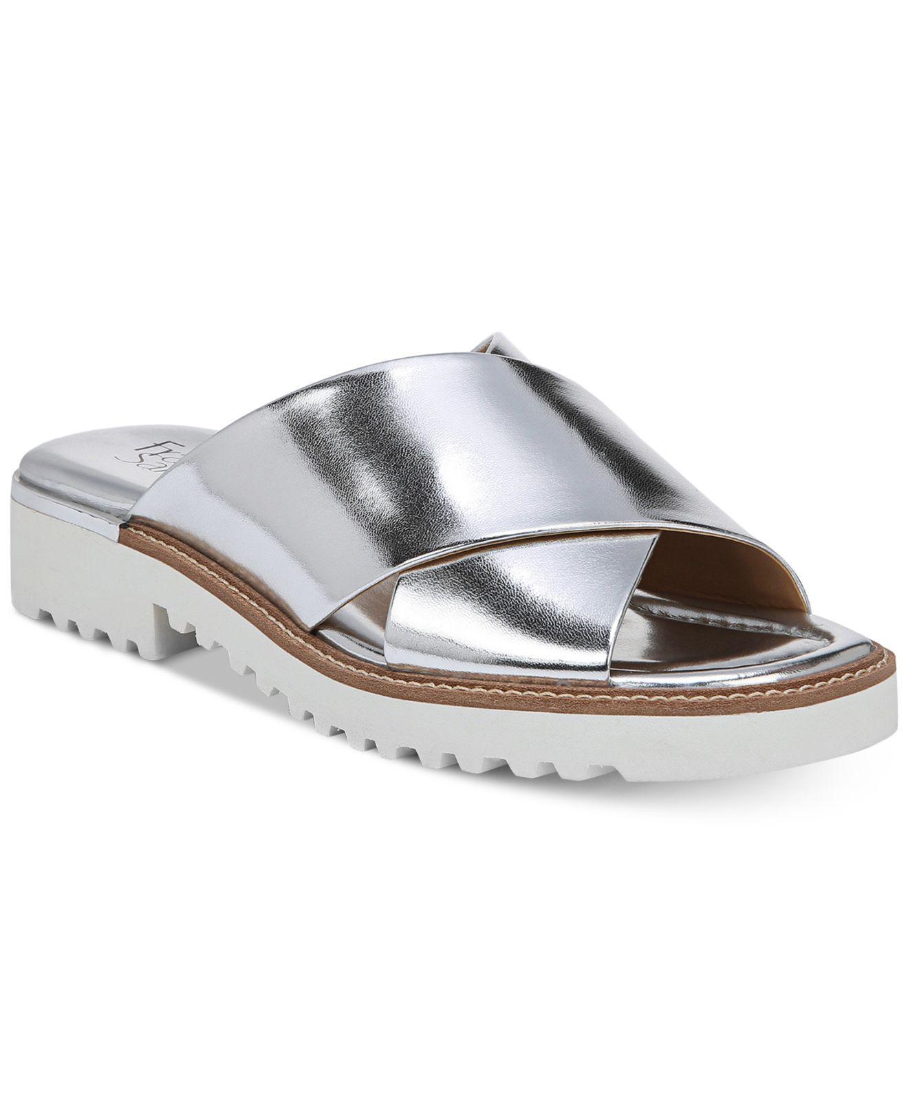 Franco Sarto Tilden Leather Slides 0lK2Bc6MY1