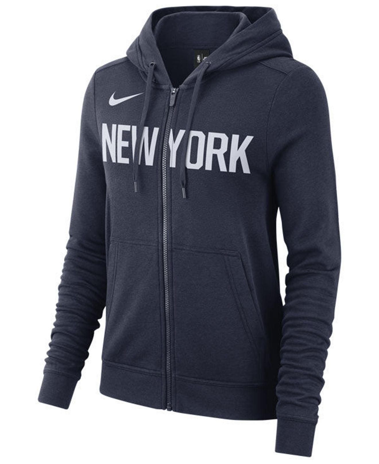 64cfaaf080e Lyst - Nike New York Knicks City Edition Full-zip Hoodie in Blue