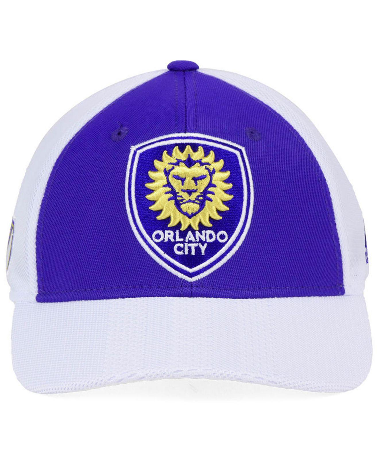 80f7c6038ed Lyst - adidas Orlando City Sc Authentic Mesh Adjustable Cap in Purple for  Men