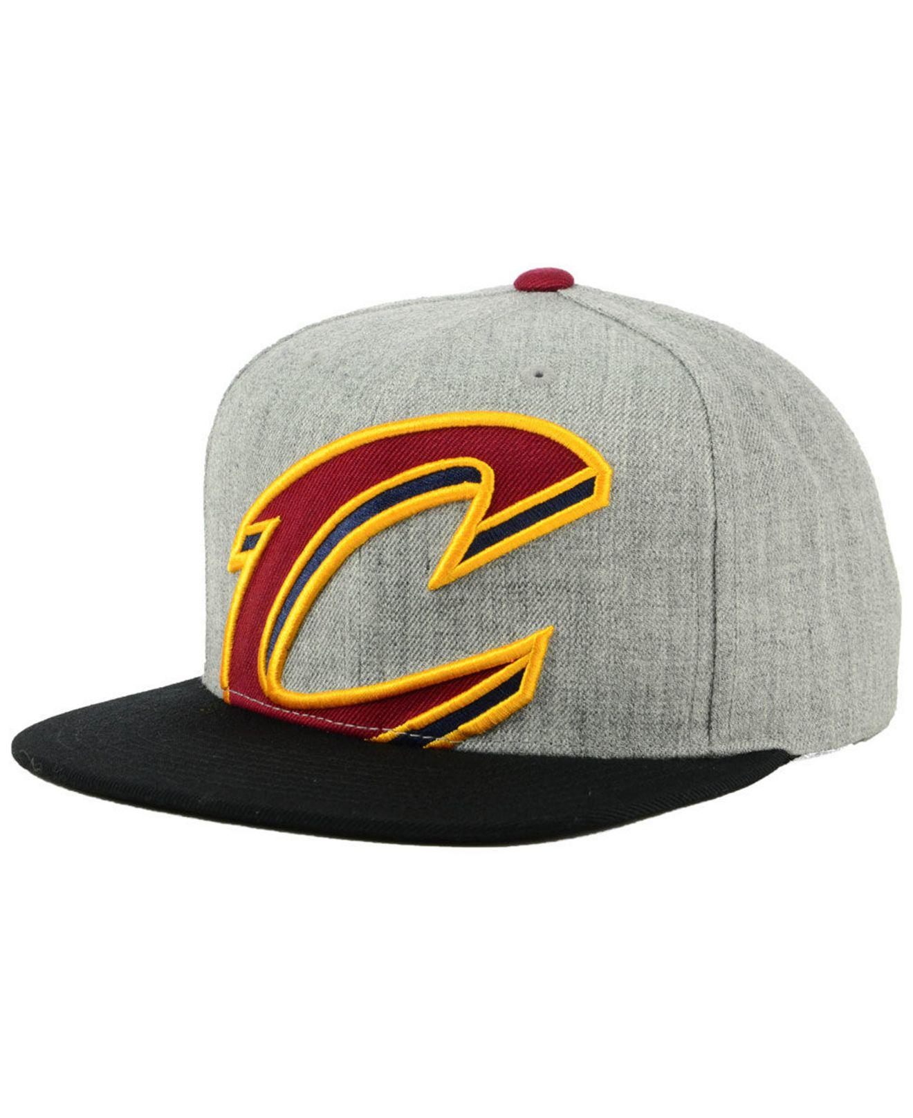 best loved eb9e9 0af7f ... ireland mitchell ness. mens cleveland cavaliers cropped heather snapback  cap 52a24 58e39