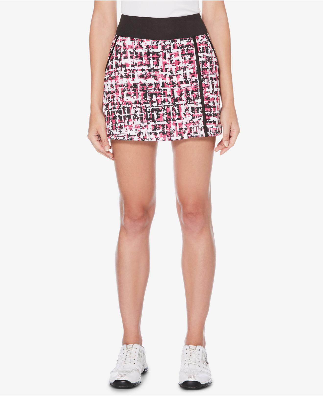 09316ebc83 Lyst - PGA TOUR Printed Golf Skort in Pink