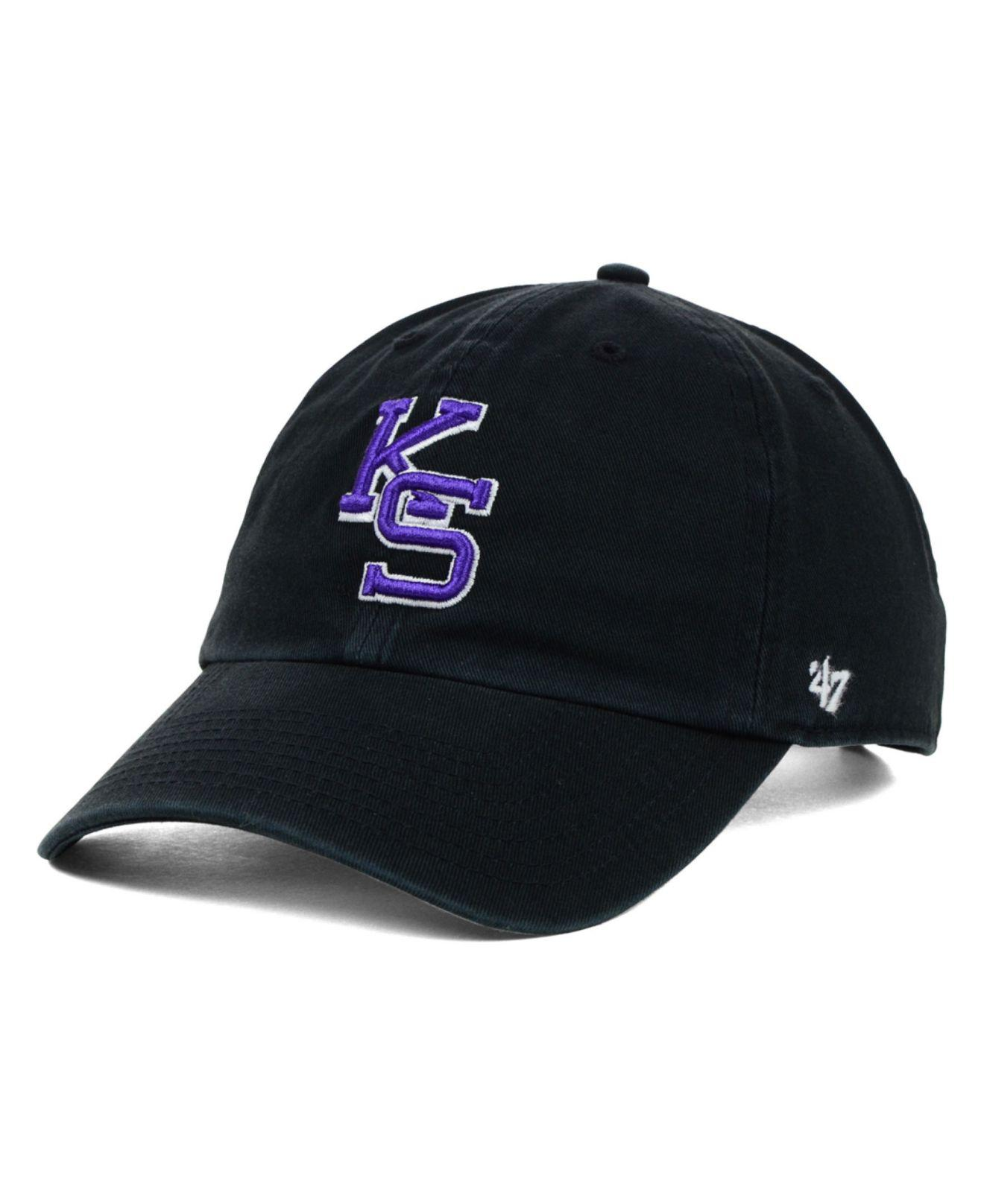 low priced 67aff 5e2ff Lyst - 47 Brand Kansas State Wildcats Clean-up Cap in Black for Men