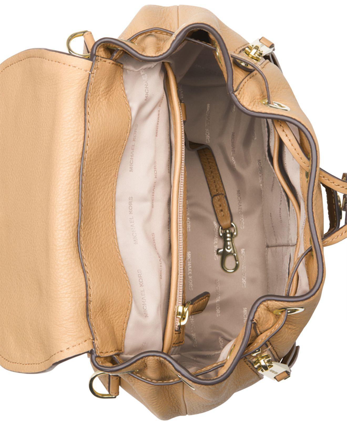 14fbb18da2f0 Michael Kors Michael Evie Small Flower Garden Backpack in Metallic ...
