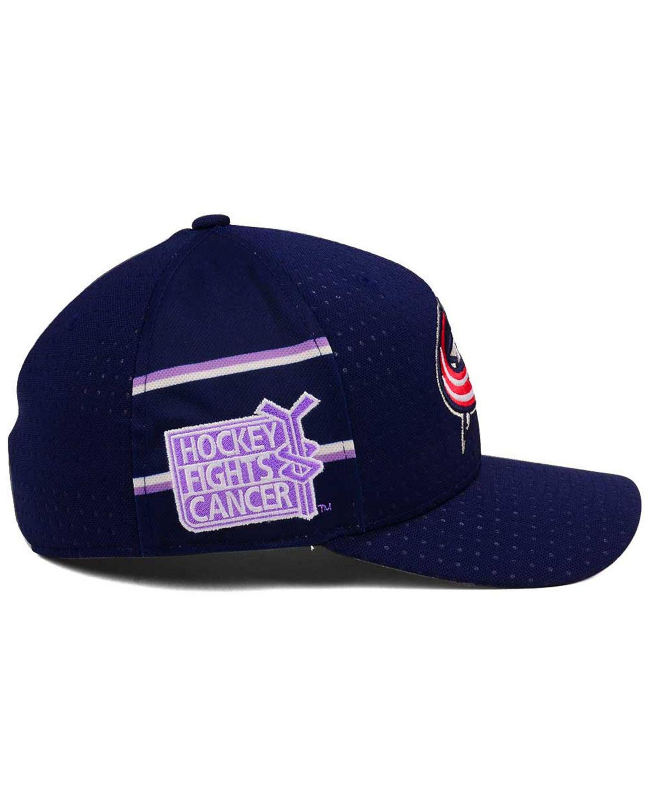 e8f77d981a1 Lyst - adidas Hockey Fights Cancer Stretch Cap in Blue for Men