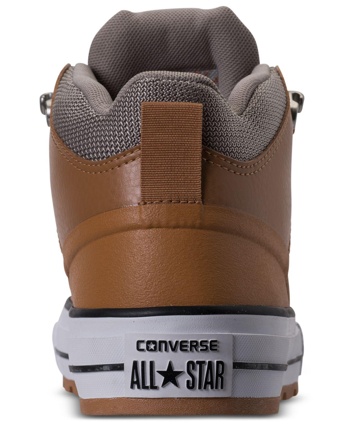 cbfaf47a2a12 Lyst - Converse Men s Chuck Taylor All Star Street Mid Leather ...