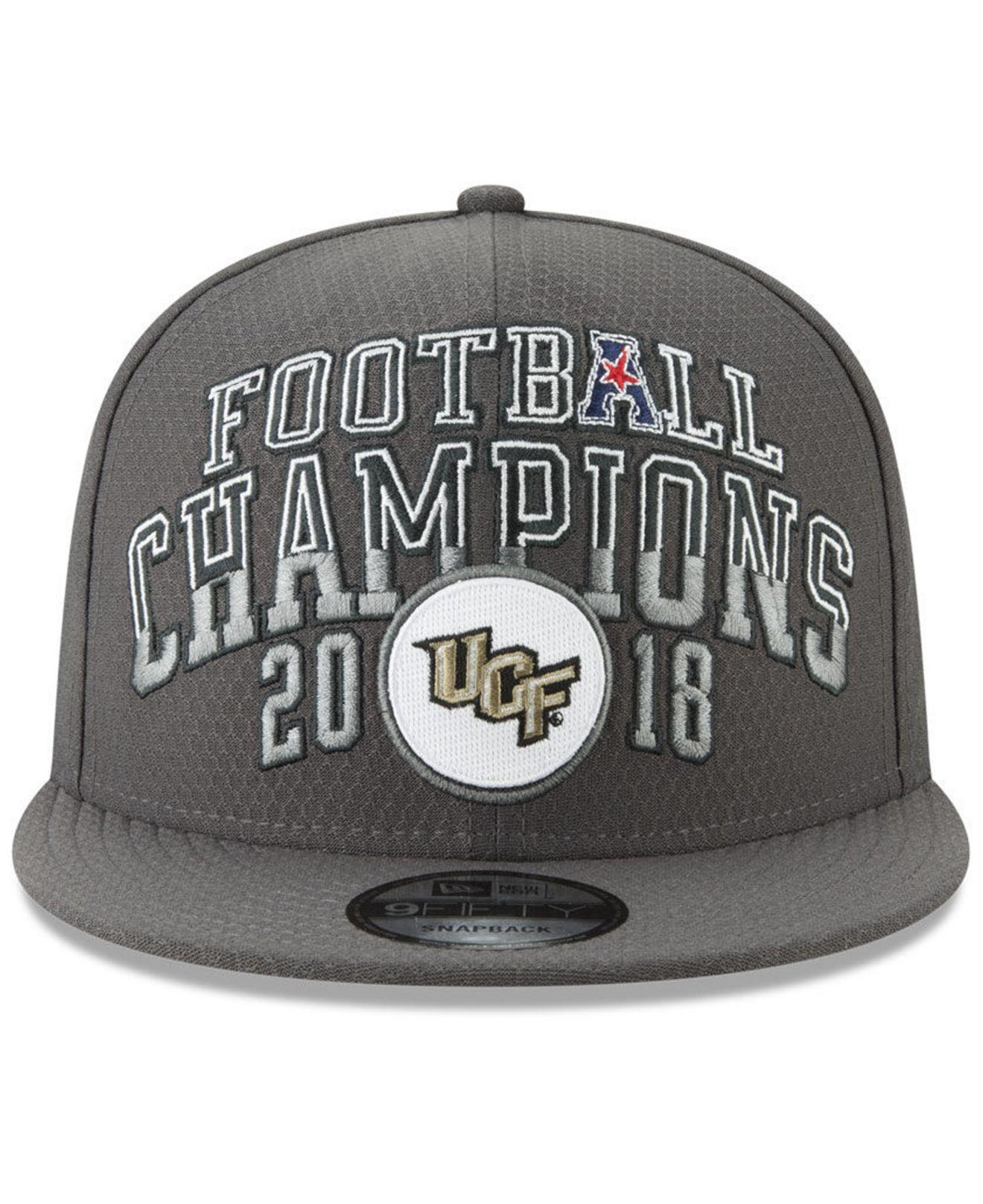 0bc0918d74b Lyst - Ktz University Of Central Florida Knights 2018 Aac Football Champ 9fifty  Snapback Cap in Gray for Men