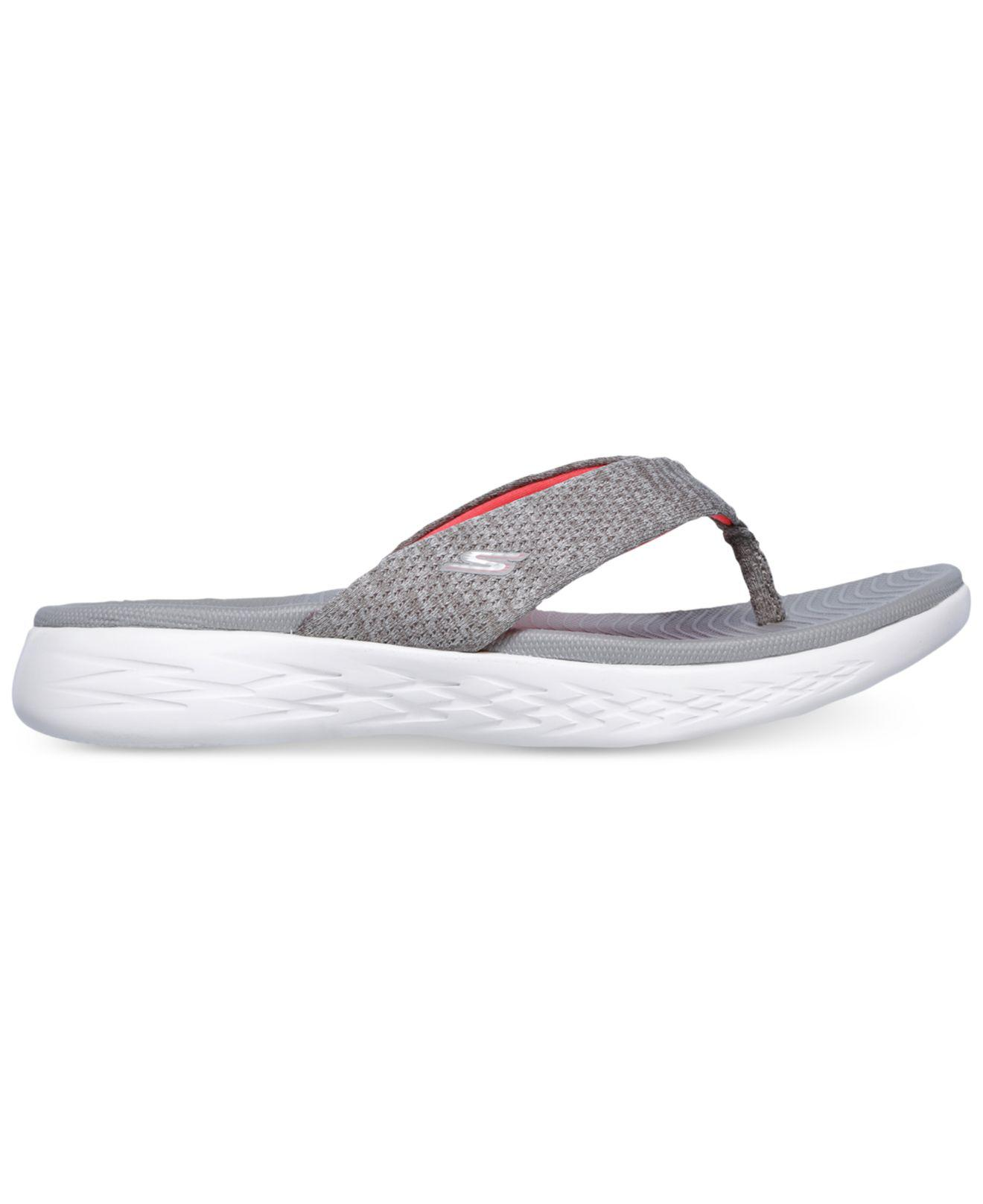 dd7e3b74df9 Lyst - Skechers On The Go 600 - Preferred Athletic Thong Flip Flop Sandals  From Finish Line in Gray - Save 57%
