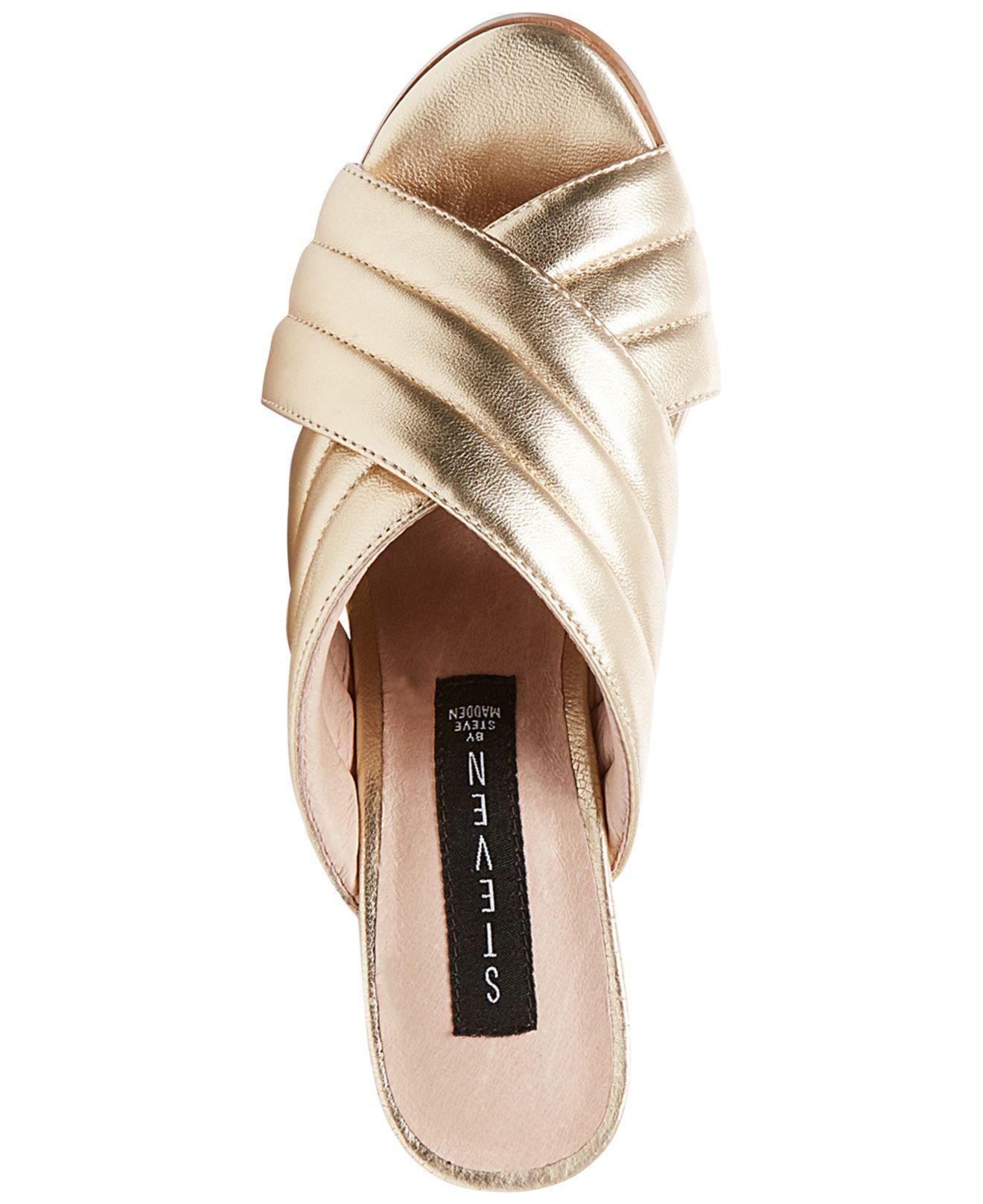 d6308bf5c91 Lyst - Steven by Steve Madden Women s Zada Slide-on Block-heel Sandals