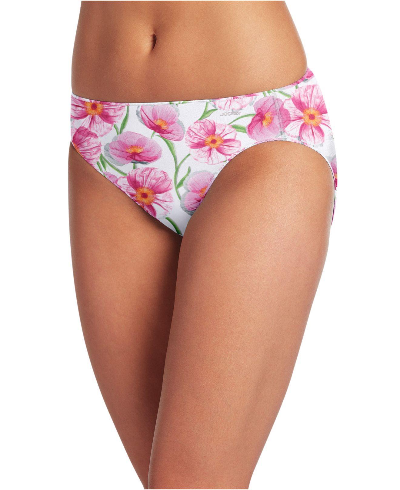 02176cd9312 Lyst - Jockey No Panty Line Promise Bikini 1370 in Pink