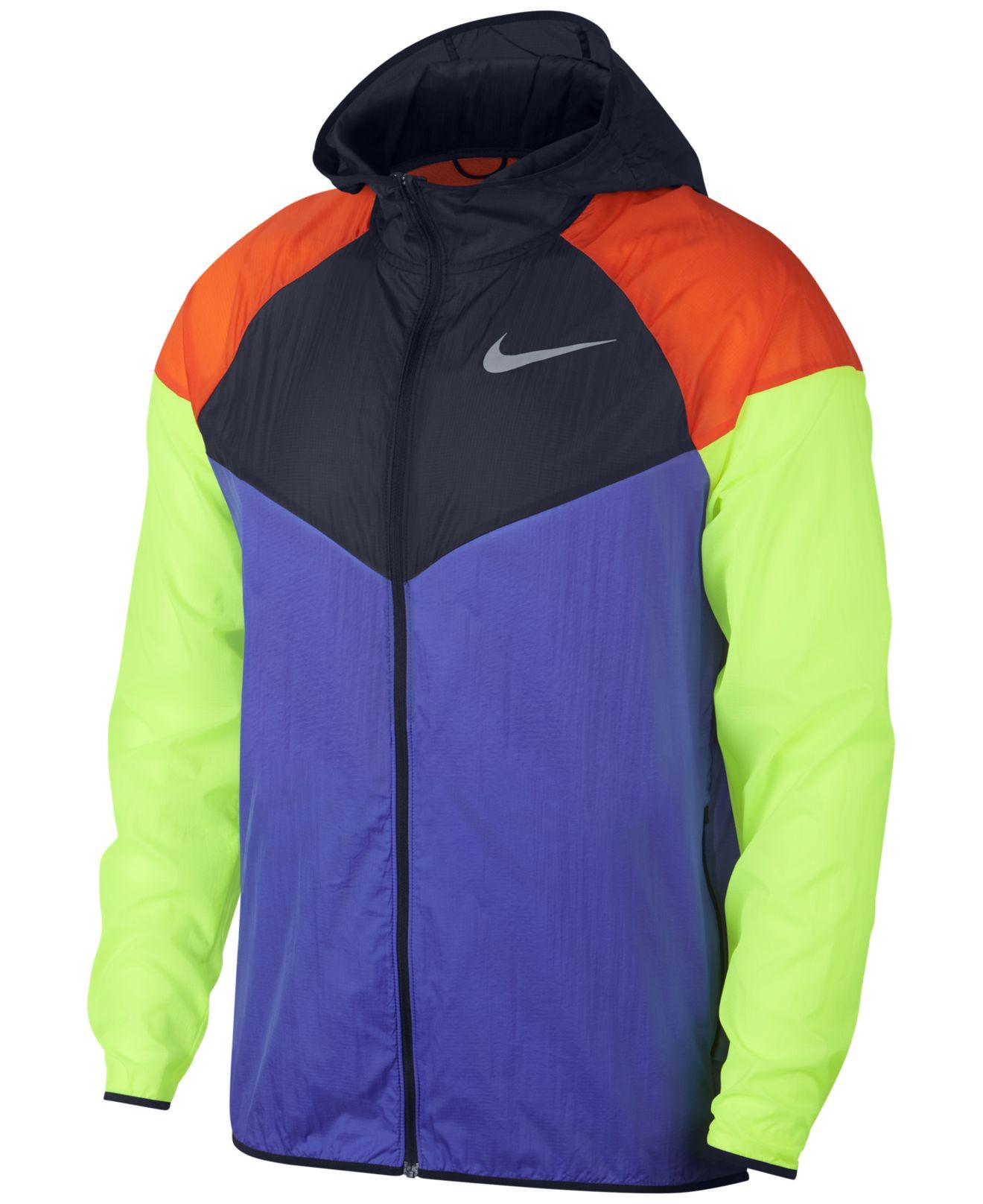 946d3f17f2 Lyst - Nike Colorblocked Water-repellent Windrunner Jacket in Purple ...