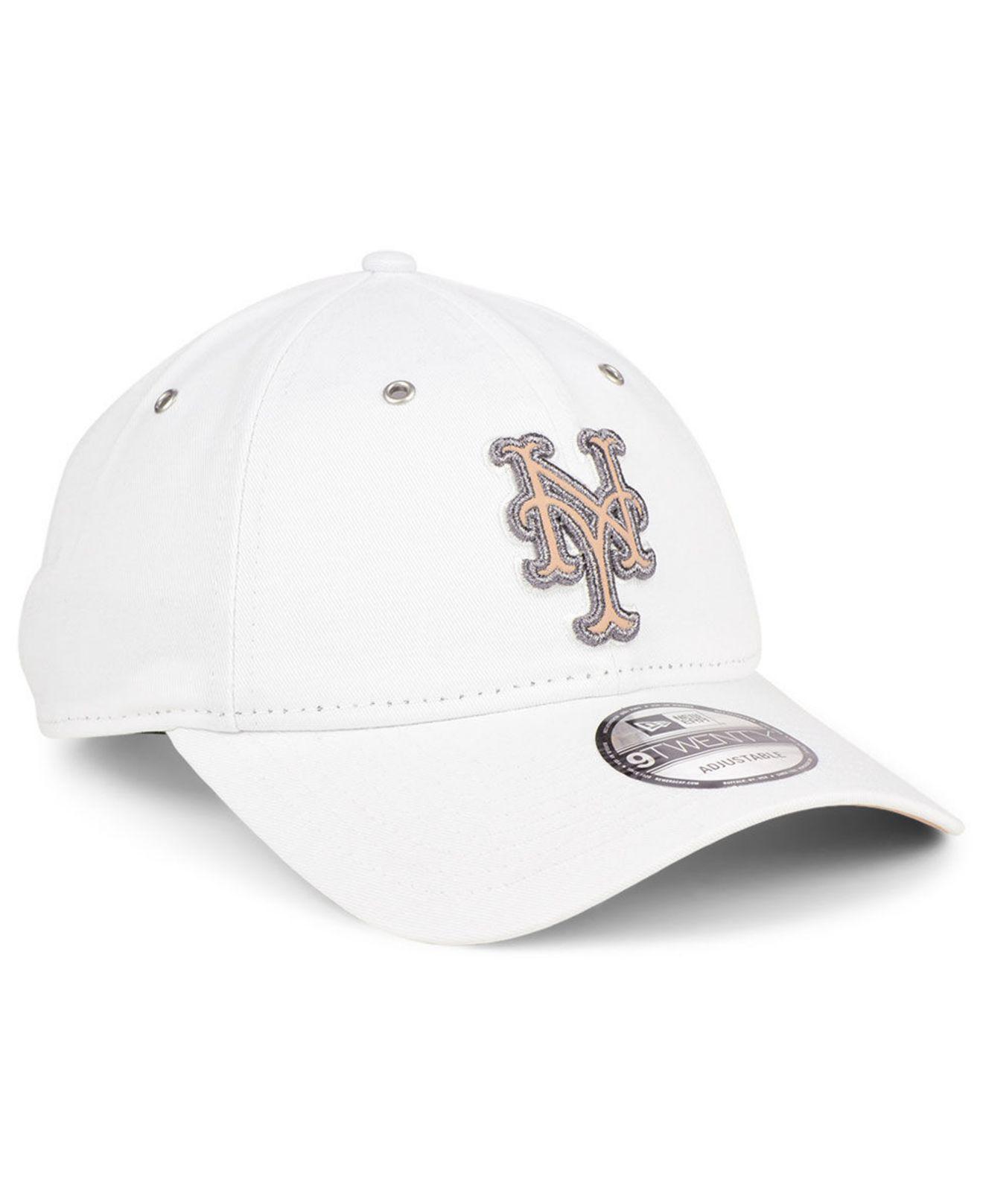 1a48f9f1549 ... get lyst ktz new york mets metallic pastel 9twenty cap in white for men  5459b 7fde9
