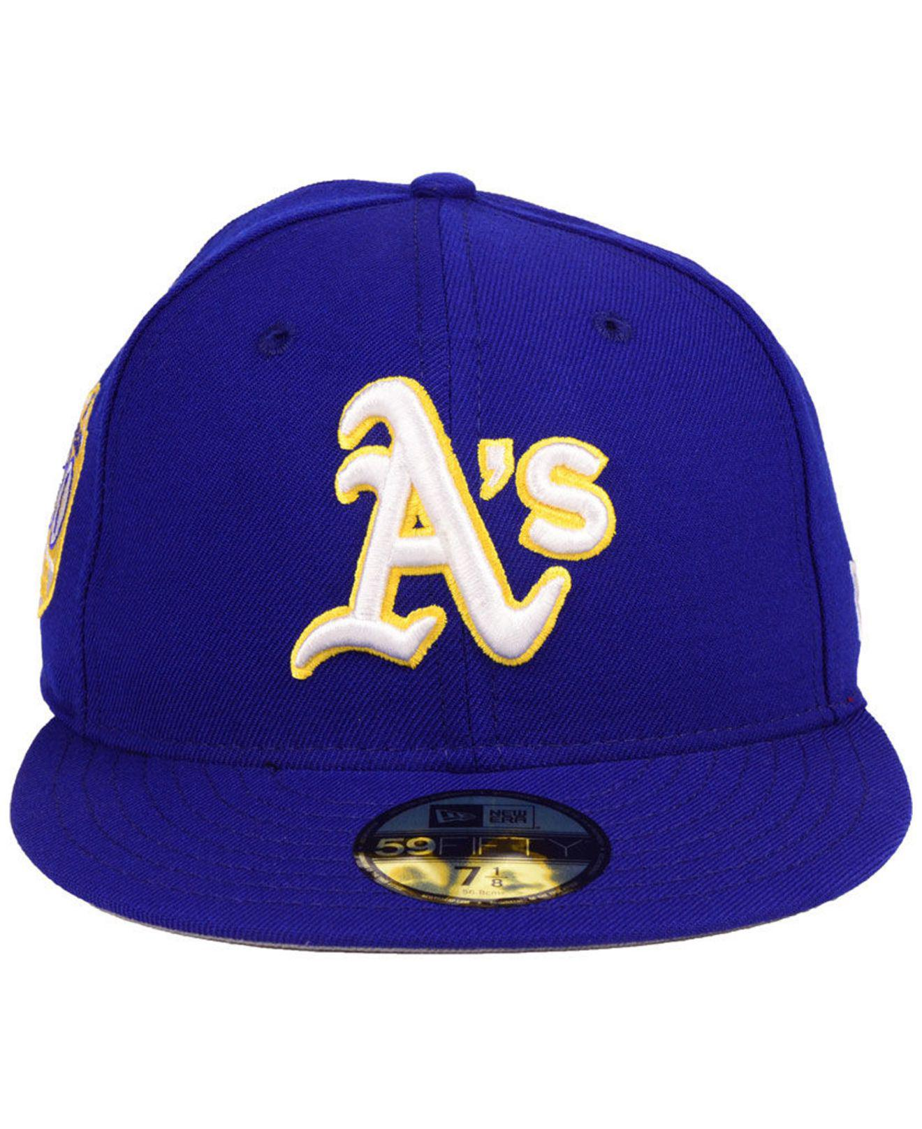 separation shoes 9acac bc007 Lyst - KTZ Oakland Athletics Anniversary Pack 59fifty Fitted Cap 2018 in  Blue for Men