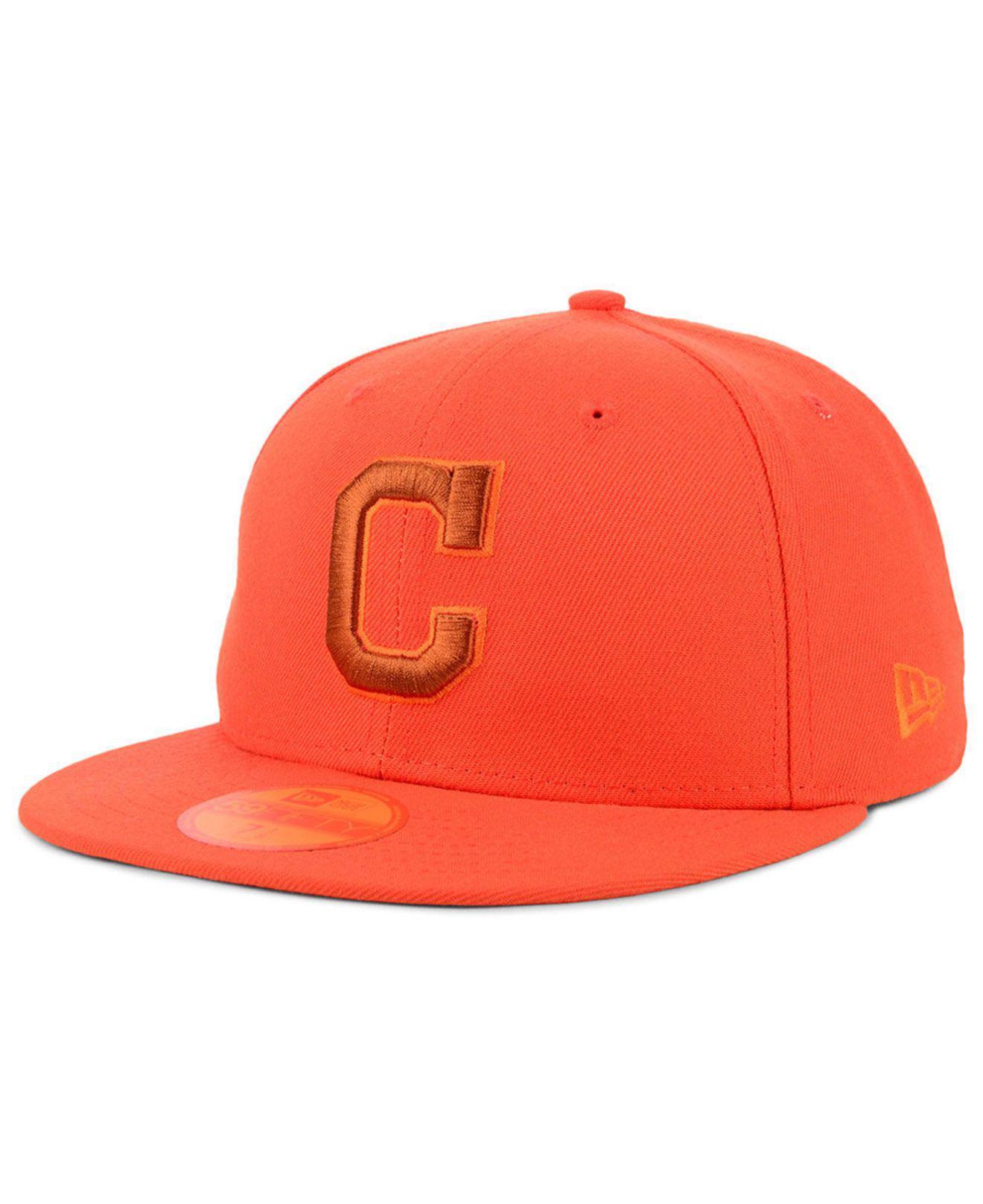 huge selection of fa795 5aab4 KTZ. Men s Orange Cleveland Indians Prism Color Pack 59fifty Fitted Cap
