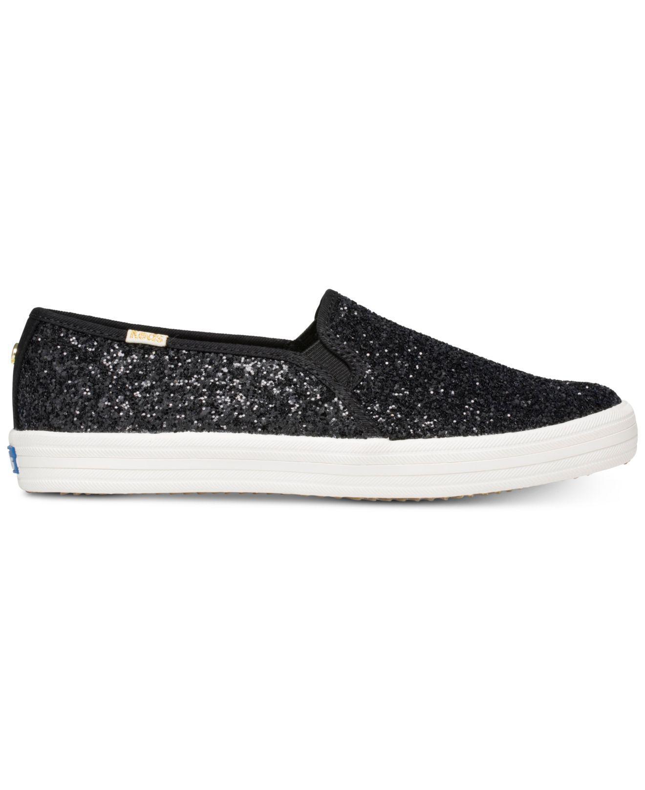 edc41de21b13 Lyst - Kate Spade Keds For Double Decker Glitter Sneakers in Black