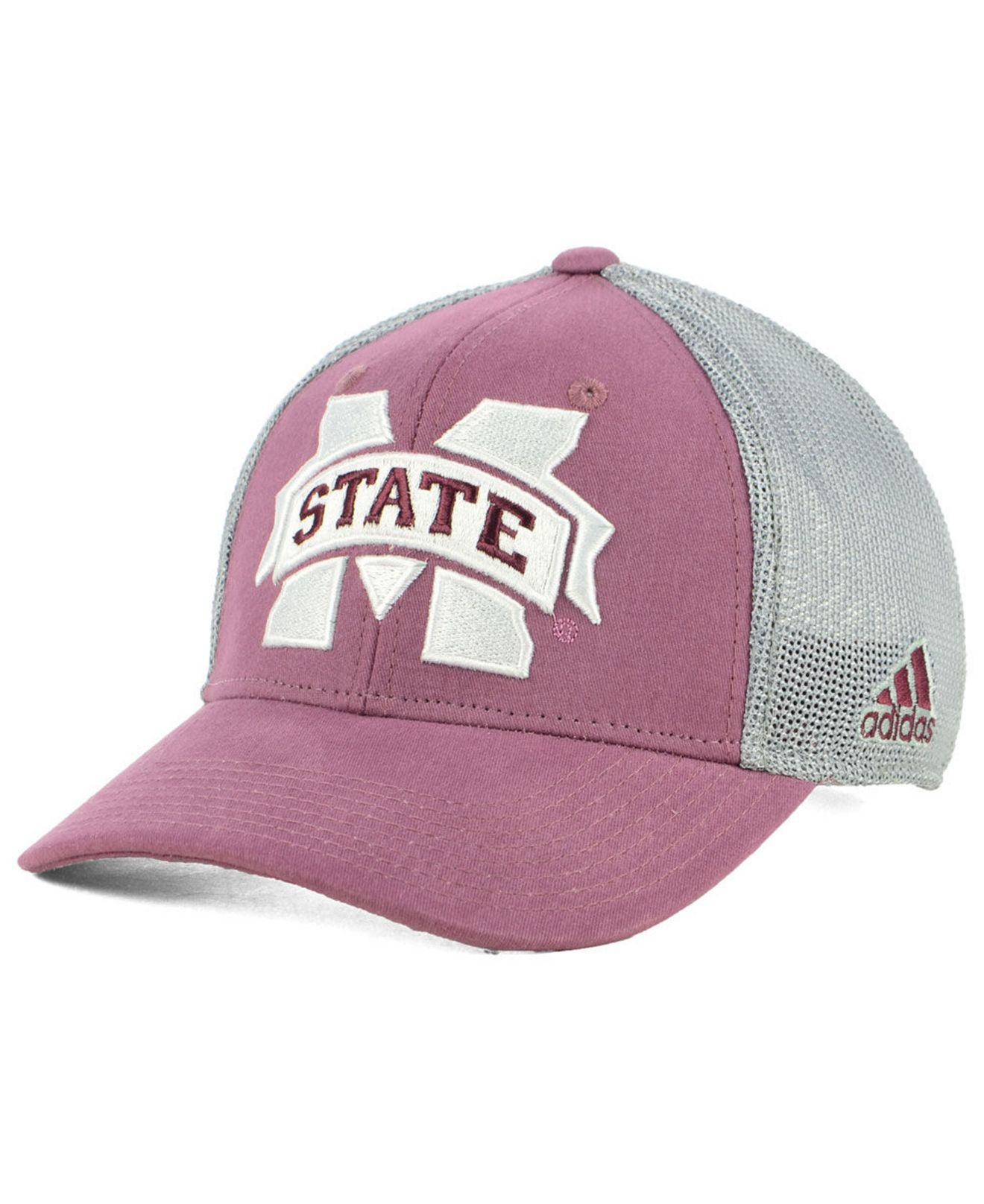 Lyst - Adidas Mississippi State Bulldogs Faded Flex Stretch Fitted ... bae493cc2e17