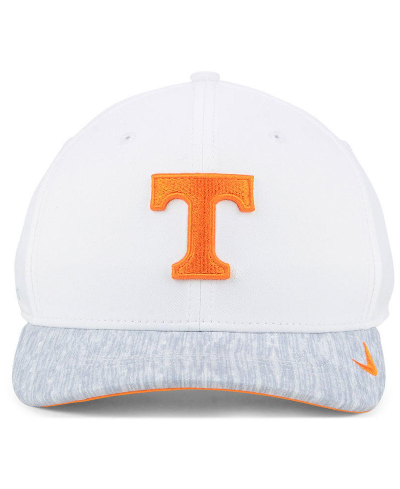 fde58a83a5749 low price lyst nike tennessee volunteers arobill swoosh flex cap in white  for men 1d555 7456c