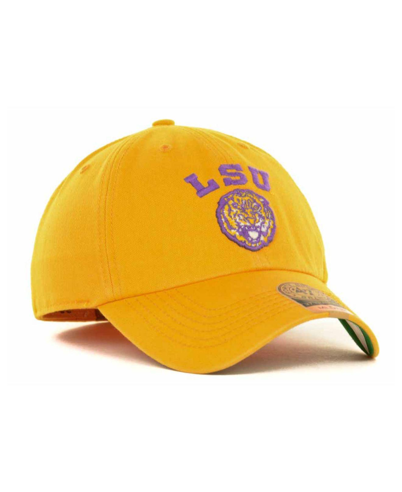 new product cd799 e4be8 47 Brand - Yellow Lsu Tigers Ncaa  47 Franchise Cap for Men - Lyst. View  fullscreen