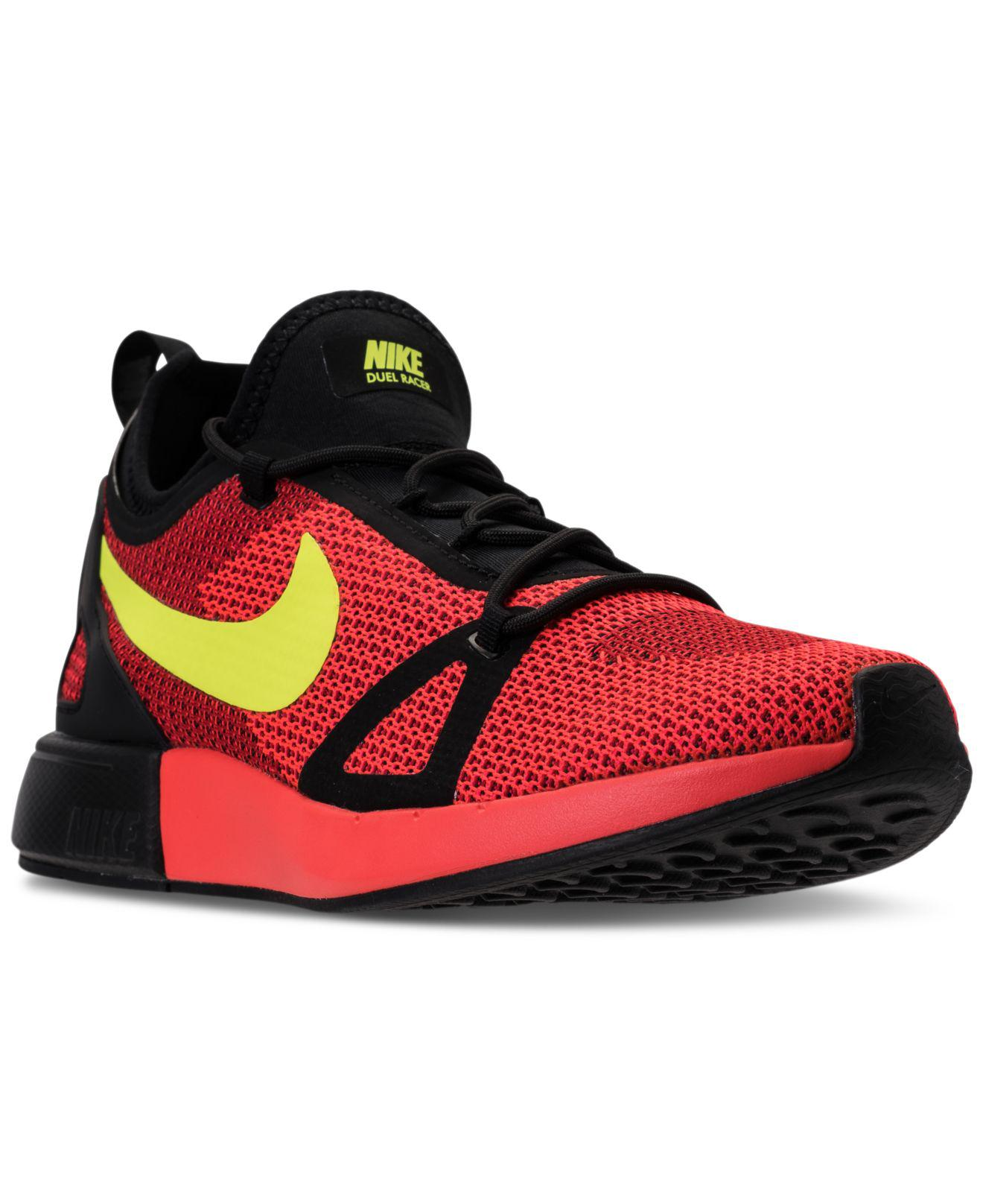 Nike. Men's Red Duel Racer Running Sneakers From Finish Line