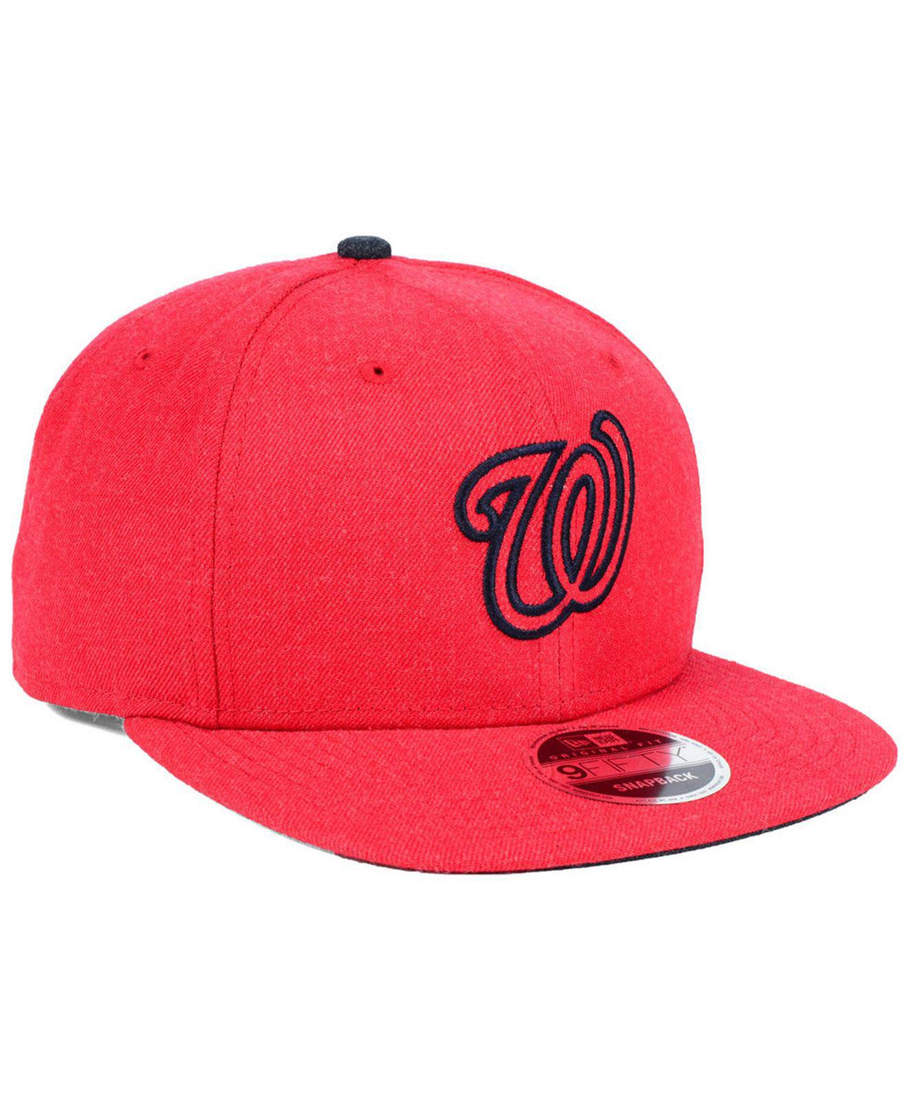 cheap for discount 67048 da8d7 ... hot lyst ktz washington nationals heather hype 9fifty snapback cap in  c910f 97f75