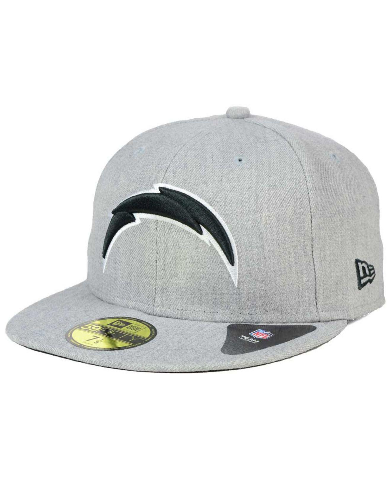 9630a326aec Lyst - KTZ San Diego Chargers Heather Black White 59fifty Cap in ...