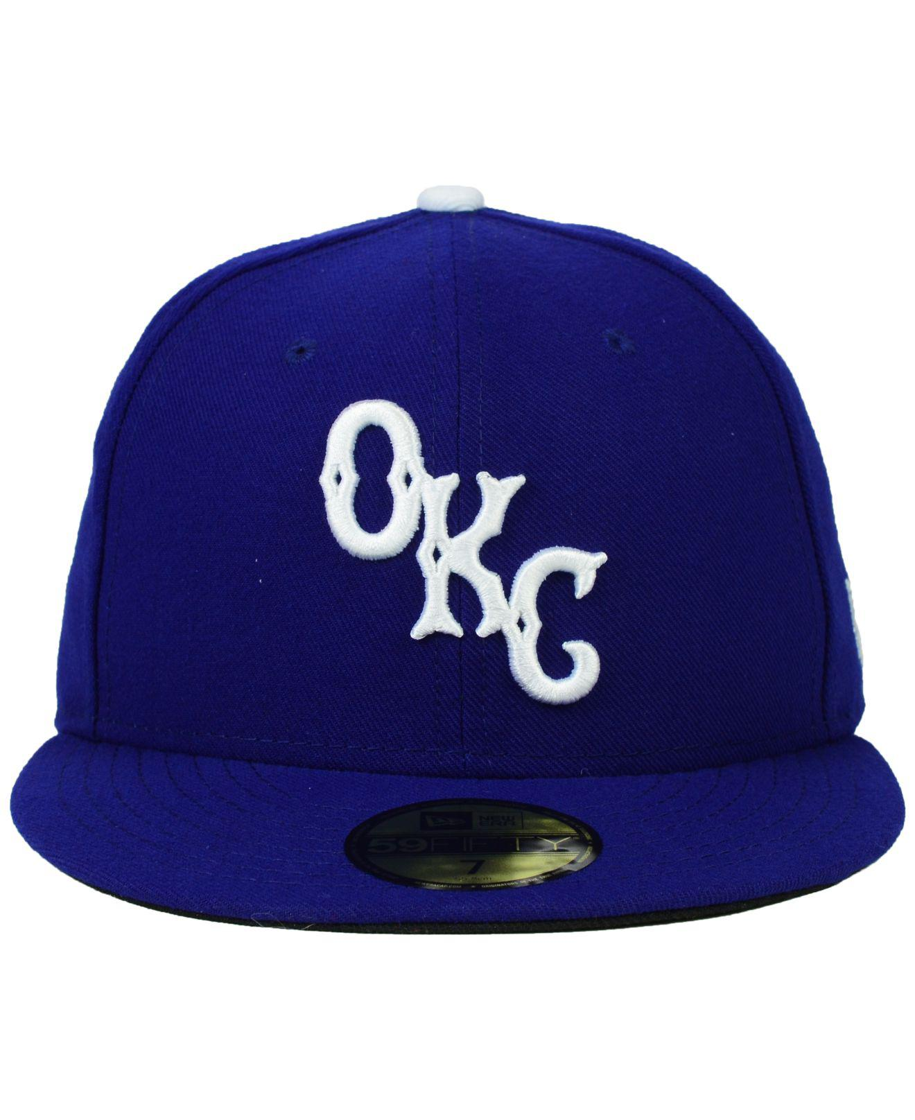 Lyst - KTZ Oklahoma City Dodgers 59fifty Cap in Blue for Men 43300bcc4c13
